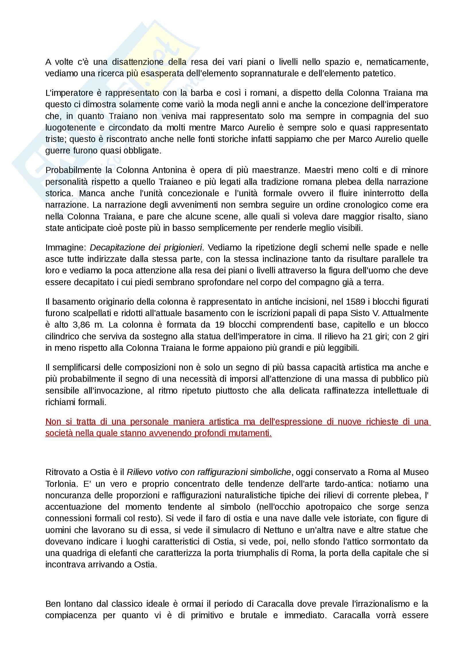 Riassunto esame Arte Romana, prof. Legrottaglie, libro consigliato Arte romana, Bianchi Bandinelli Pag. 16