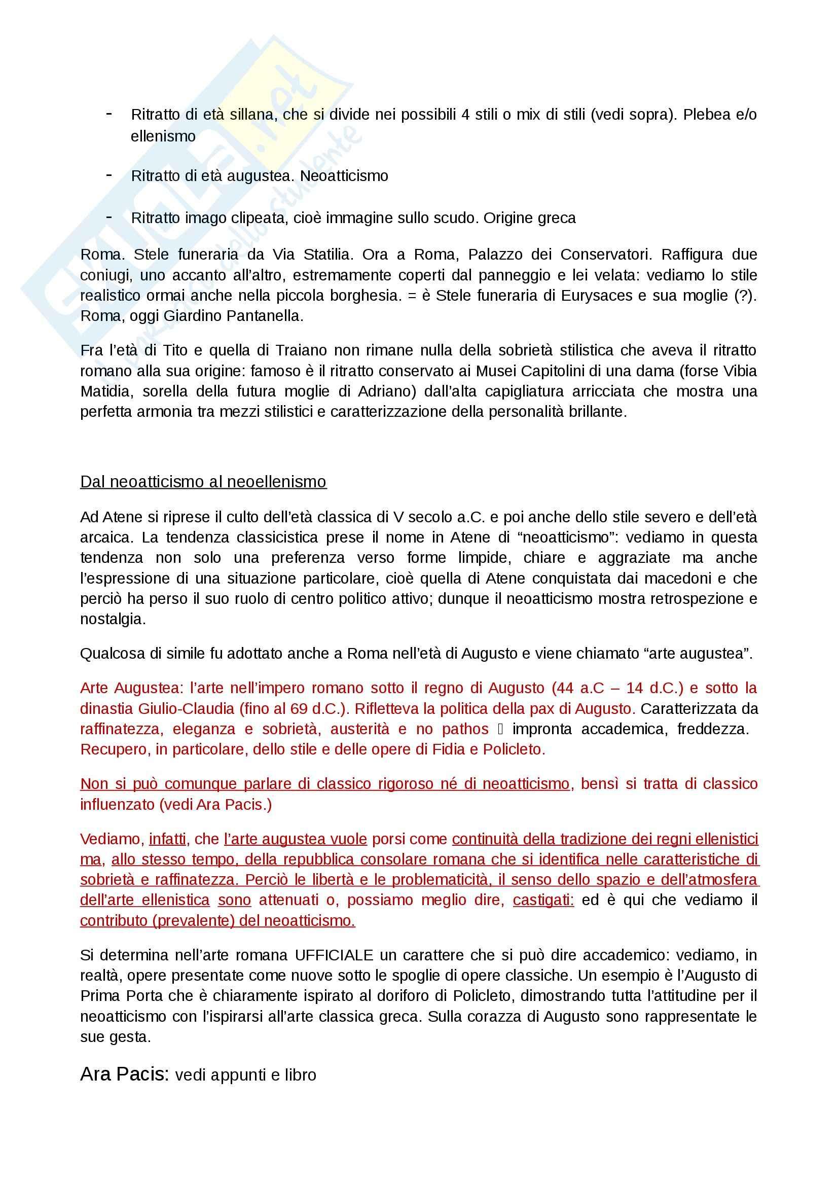 Riassunto esame Arte Romana, prof. Legrottaglie, libro consigliato Arte romana, Bianchi Bandinelli Pag. 6