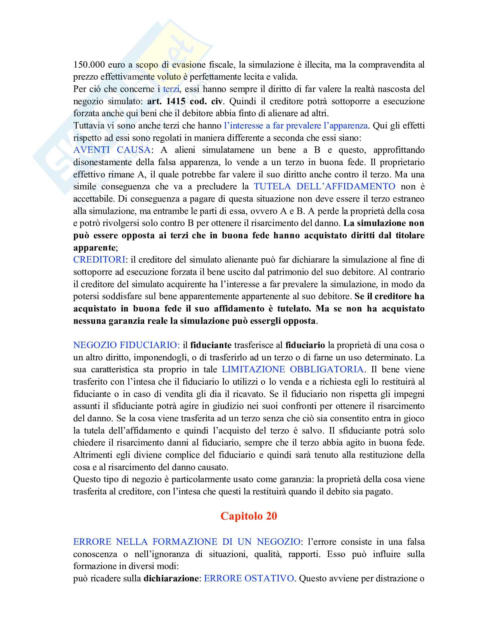 Riassunto esame Istituzioni di diritto privato, prof. Carnevali, libro consigliato Istituzioni di Diritto privato, Trimarchi Pag. 31