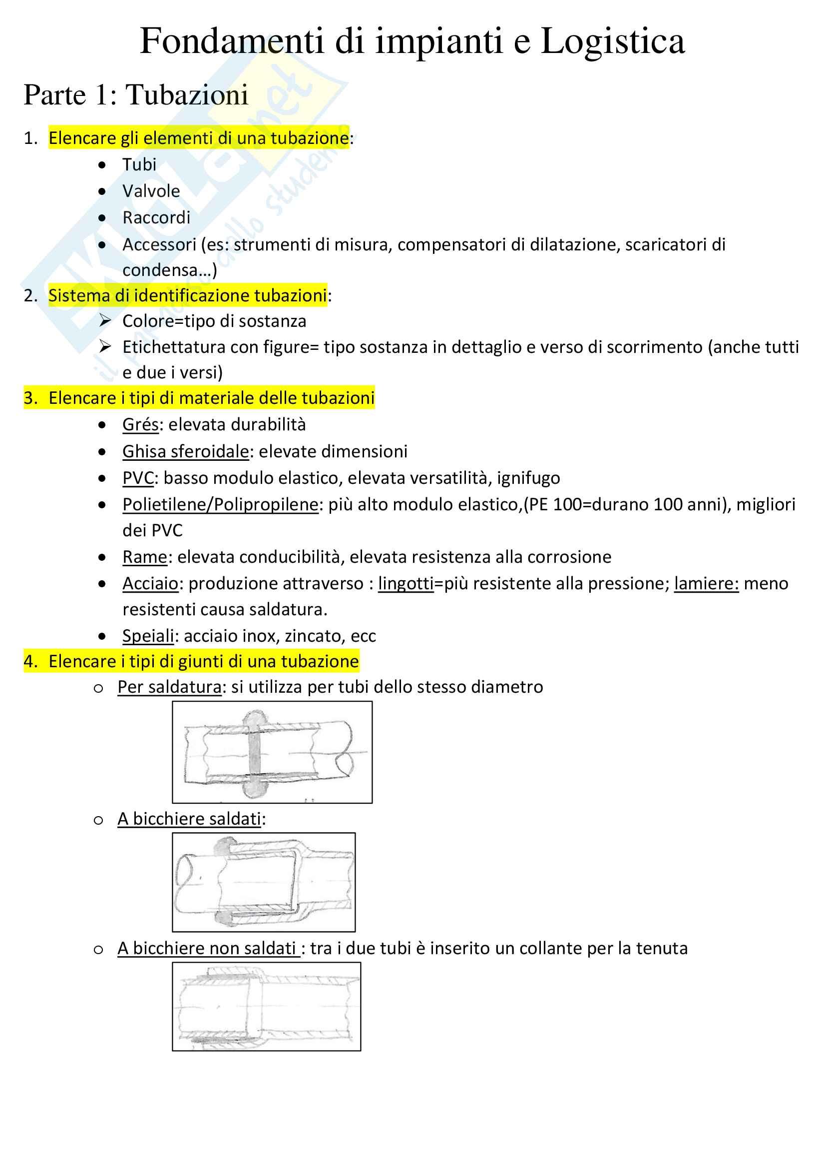 Appunti di Fondamenti di Impianti e Logistica