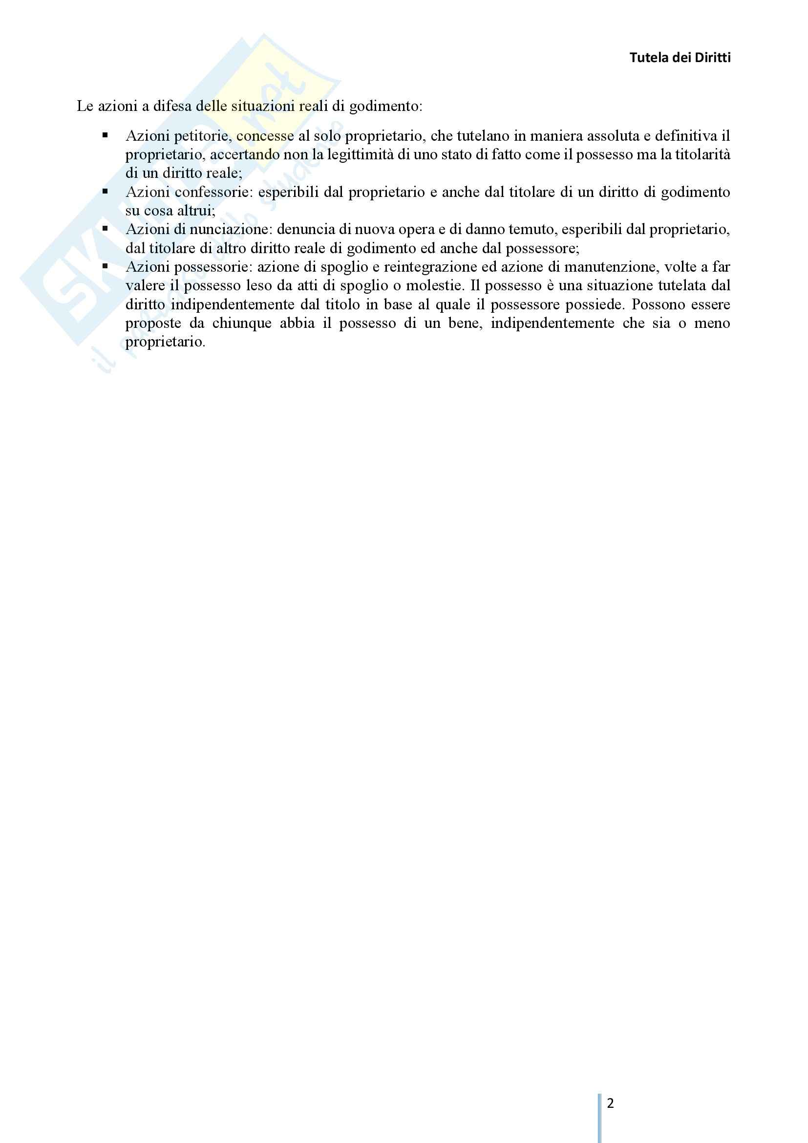 Riassunto esame Tutela dei diritti, prof. Cuffaro, libro consigliato Tutela dei Diritti, Cuffaro Pag. 2