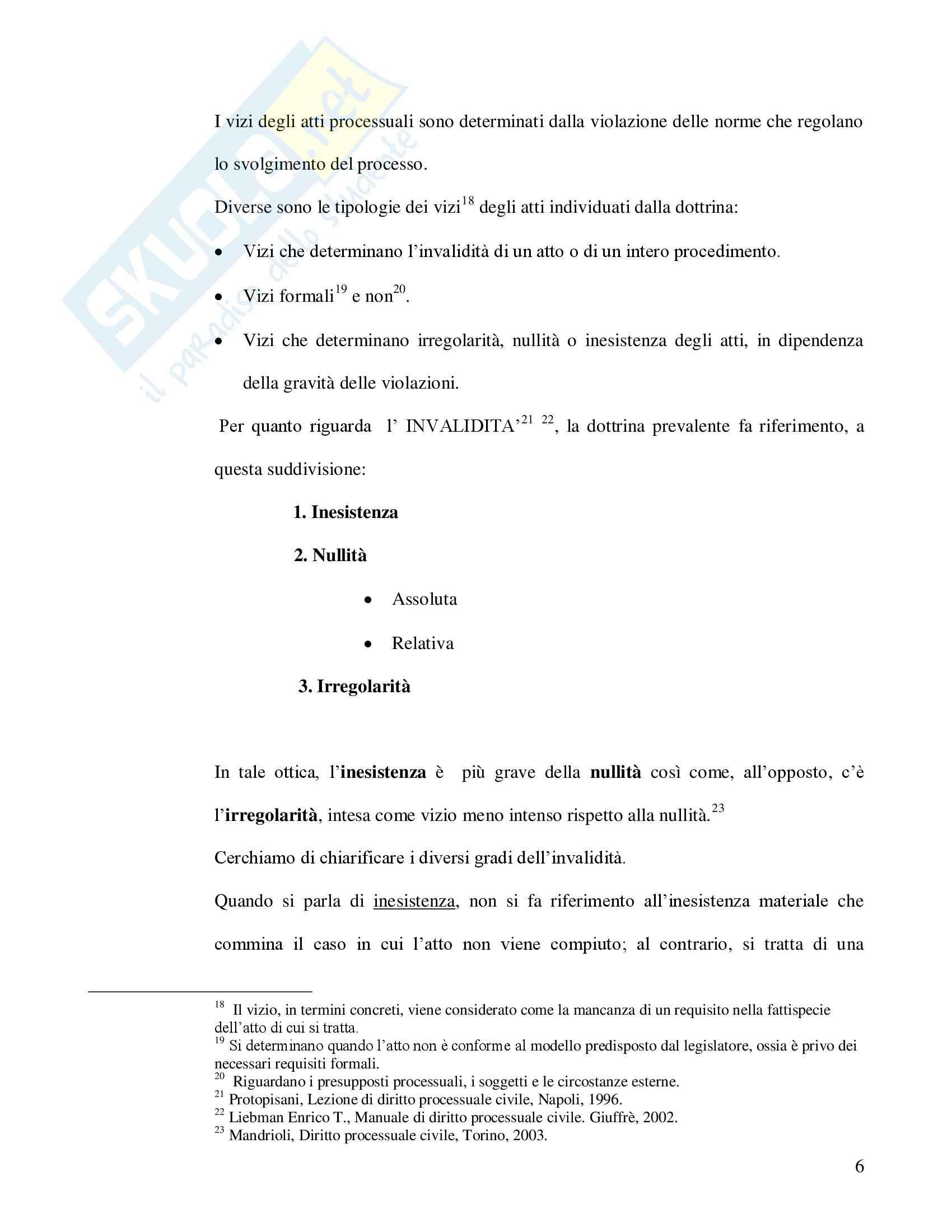 Revocazione per errore di fatto ricadente sugli atti processuali - Capitolo I Pag. 6