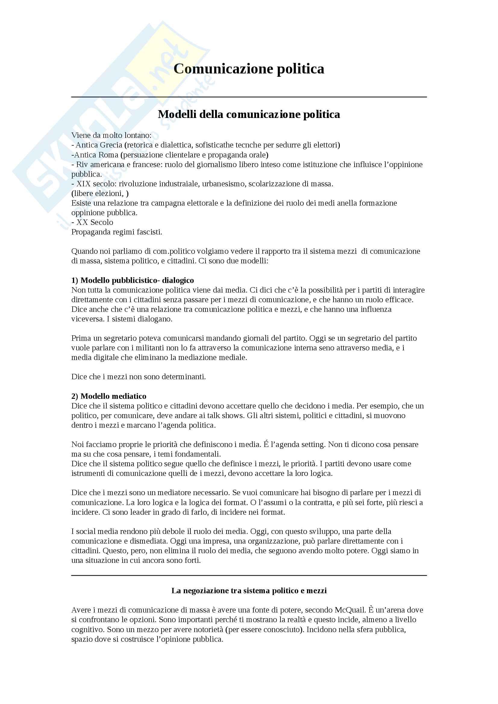 Comunicazione politica UNIBO