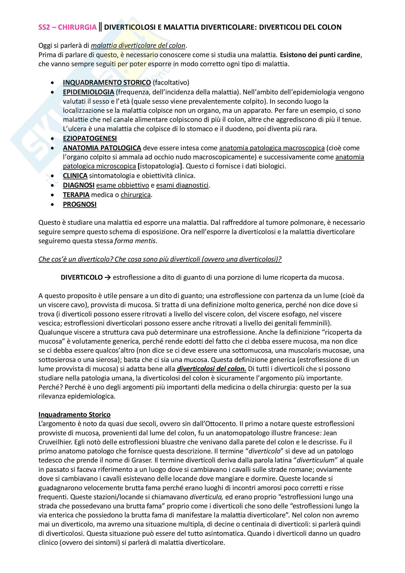 appunto P. Mingazzini Semeiotica e sistematica