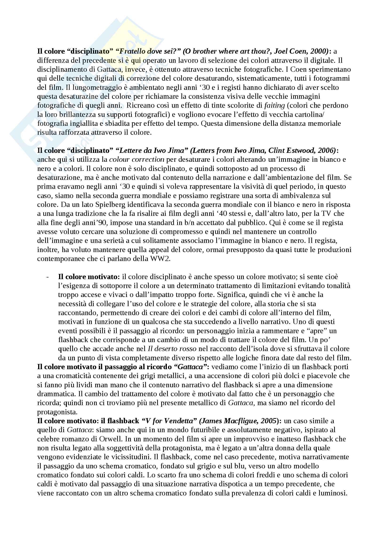 Appunti di Forme del cinema moderno e contemporaneo primo e secondo modulo Pag. 61
