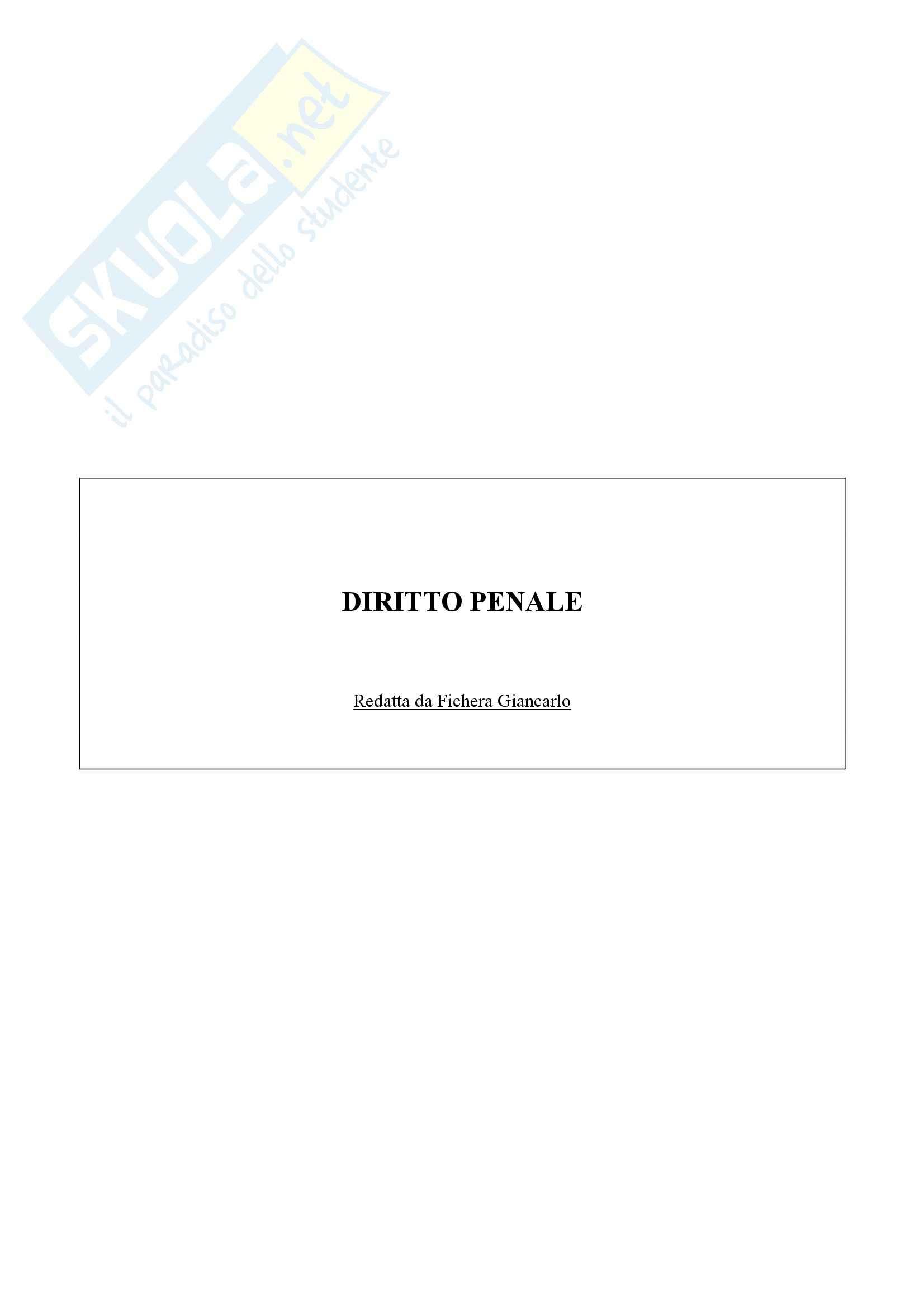 Riassunto esame Diritto Penale, prof. Bondi, libro consigliato Diritto Penale I, Vol I, Fiandaca Musco