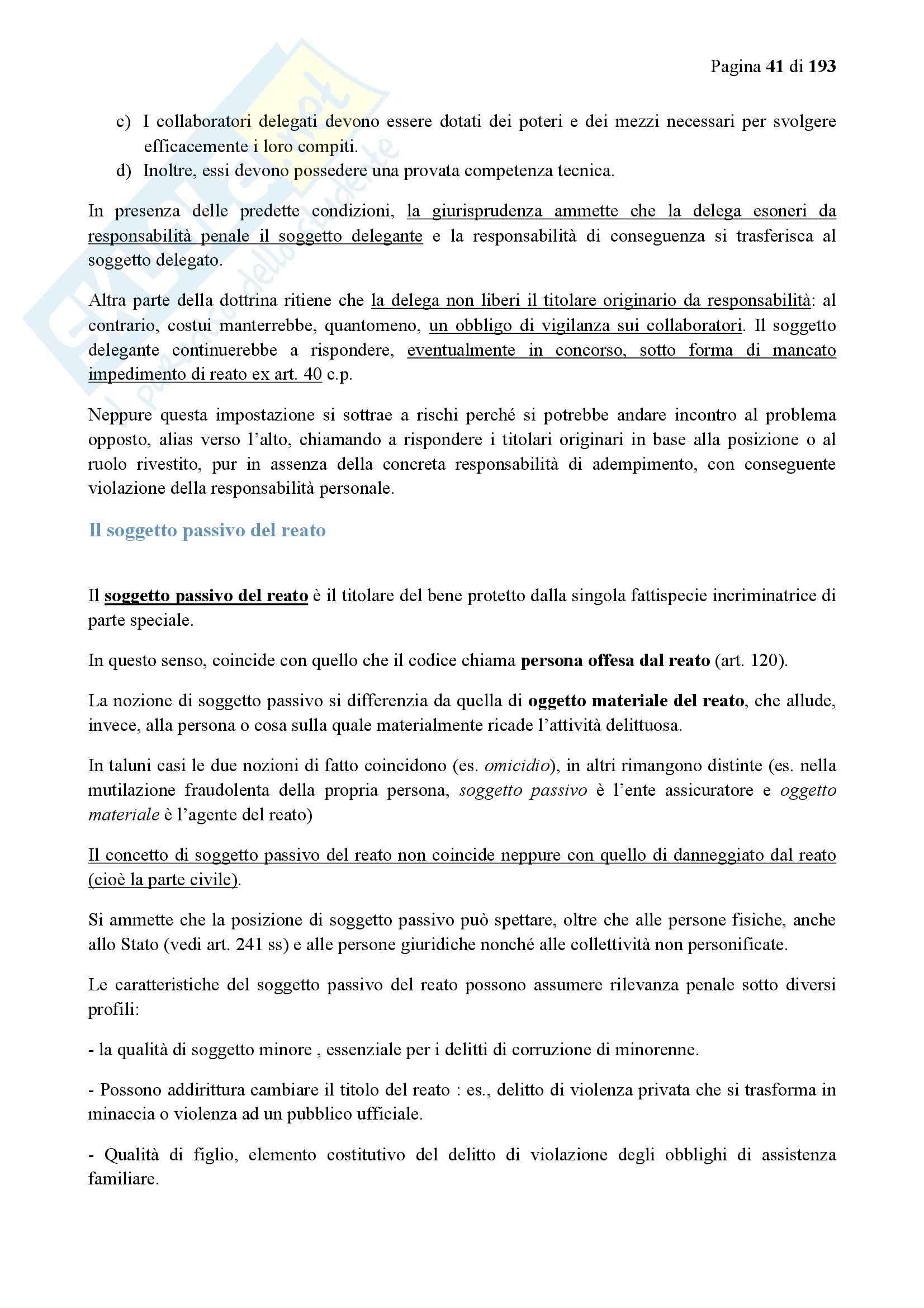 Riassunto esame Diritto Penale, prof. Bondi, libro consigliato Diritto Penale I, Vol I, Fiandaca Musco Pag. 41