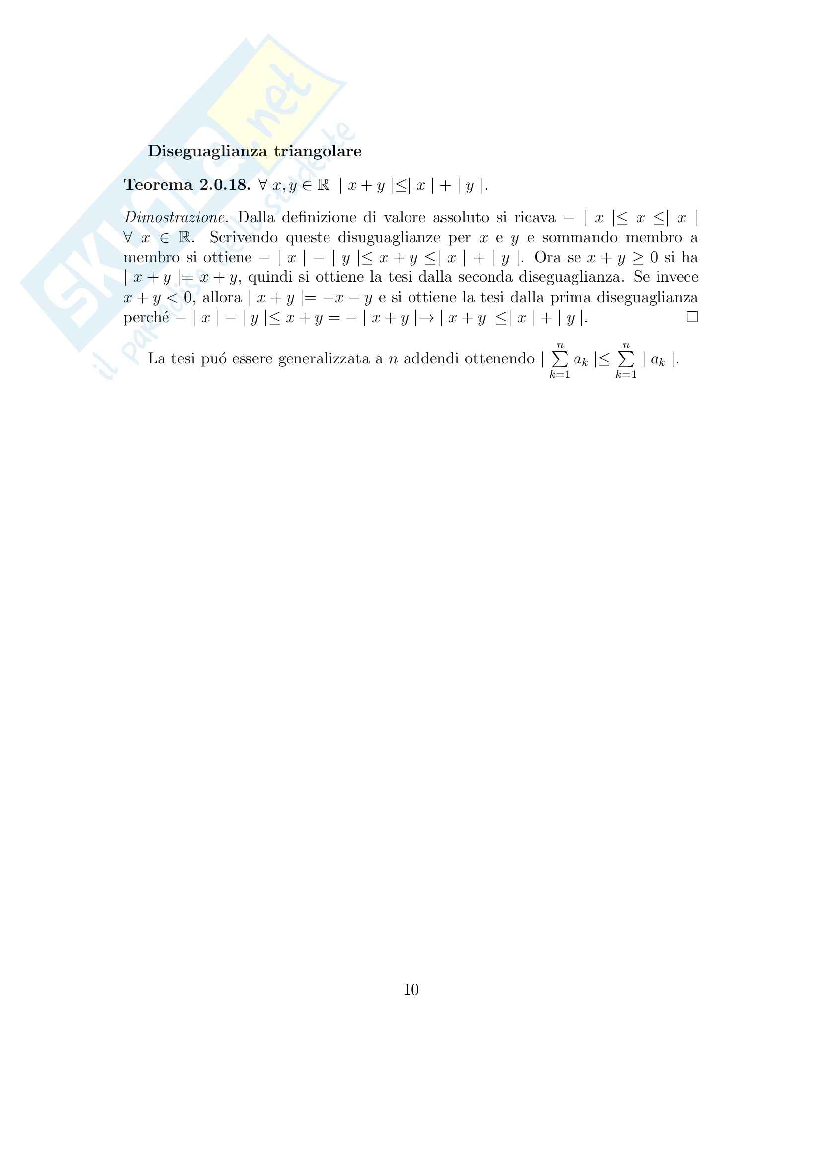 Analisi matematica 1 - Appunti Pag. 11