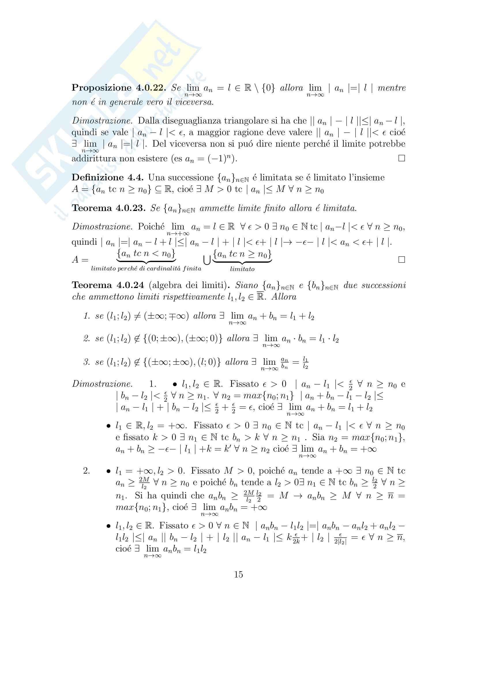 Analisi matematica 1 - Appunti Pag. 16