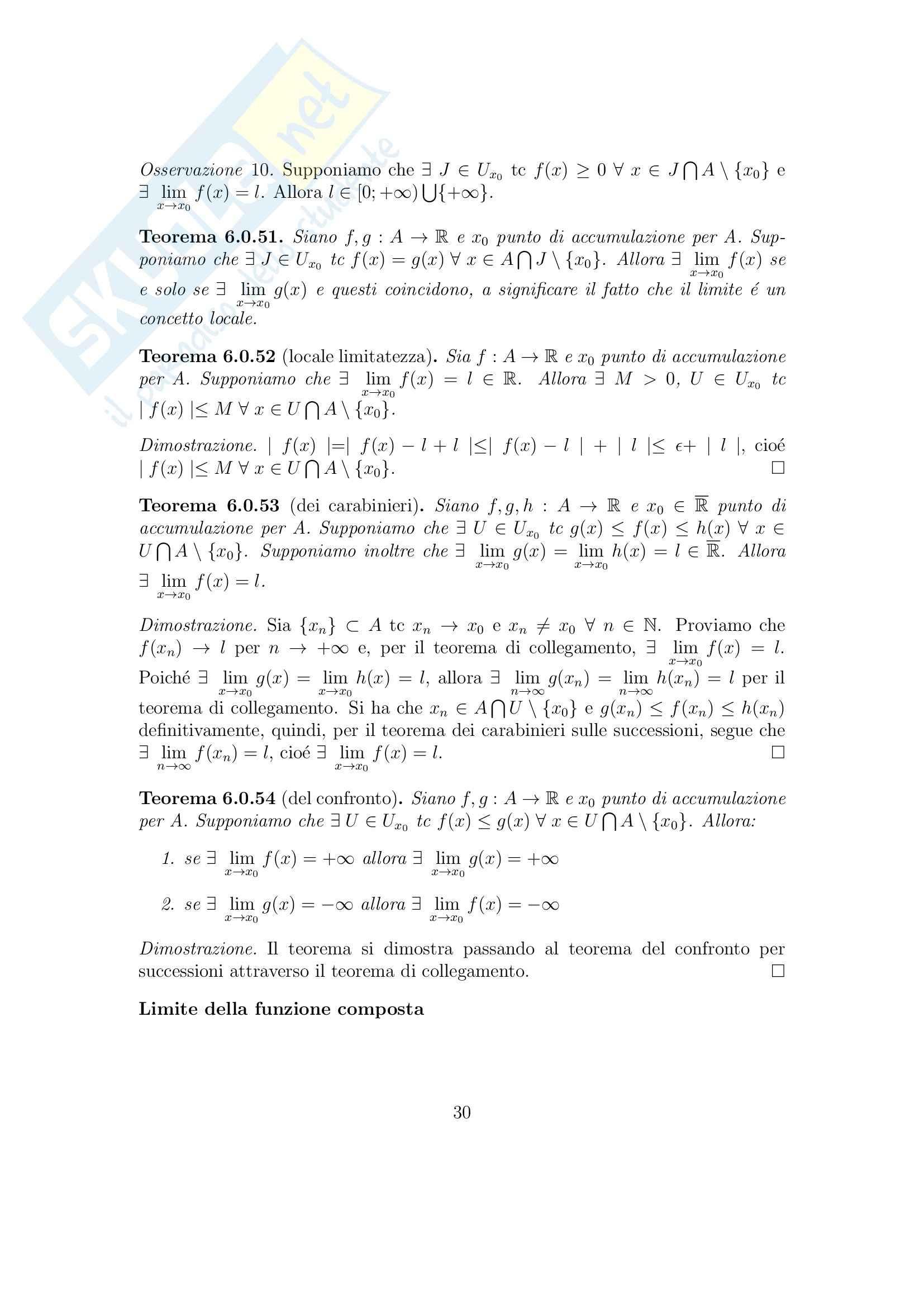 Analisi matematica 1 - Appunti Pag. 31