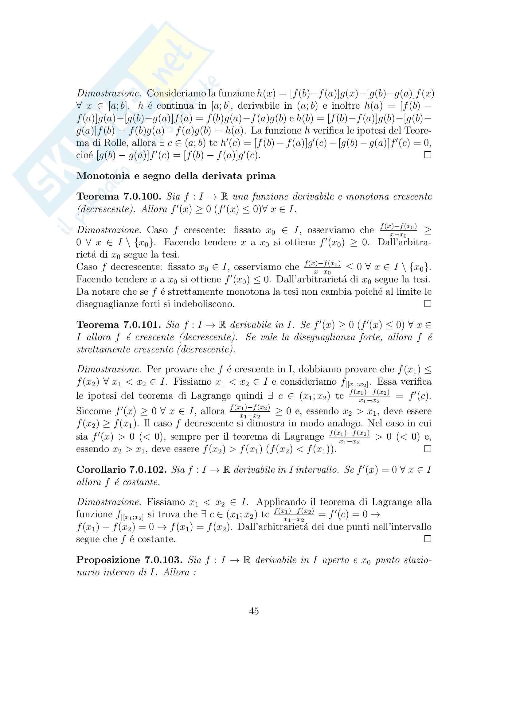 Analisi matematica 1 - Appunti Pag. 46