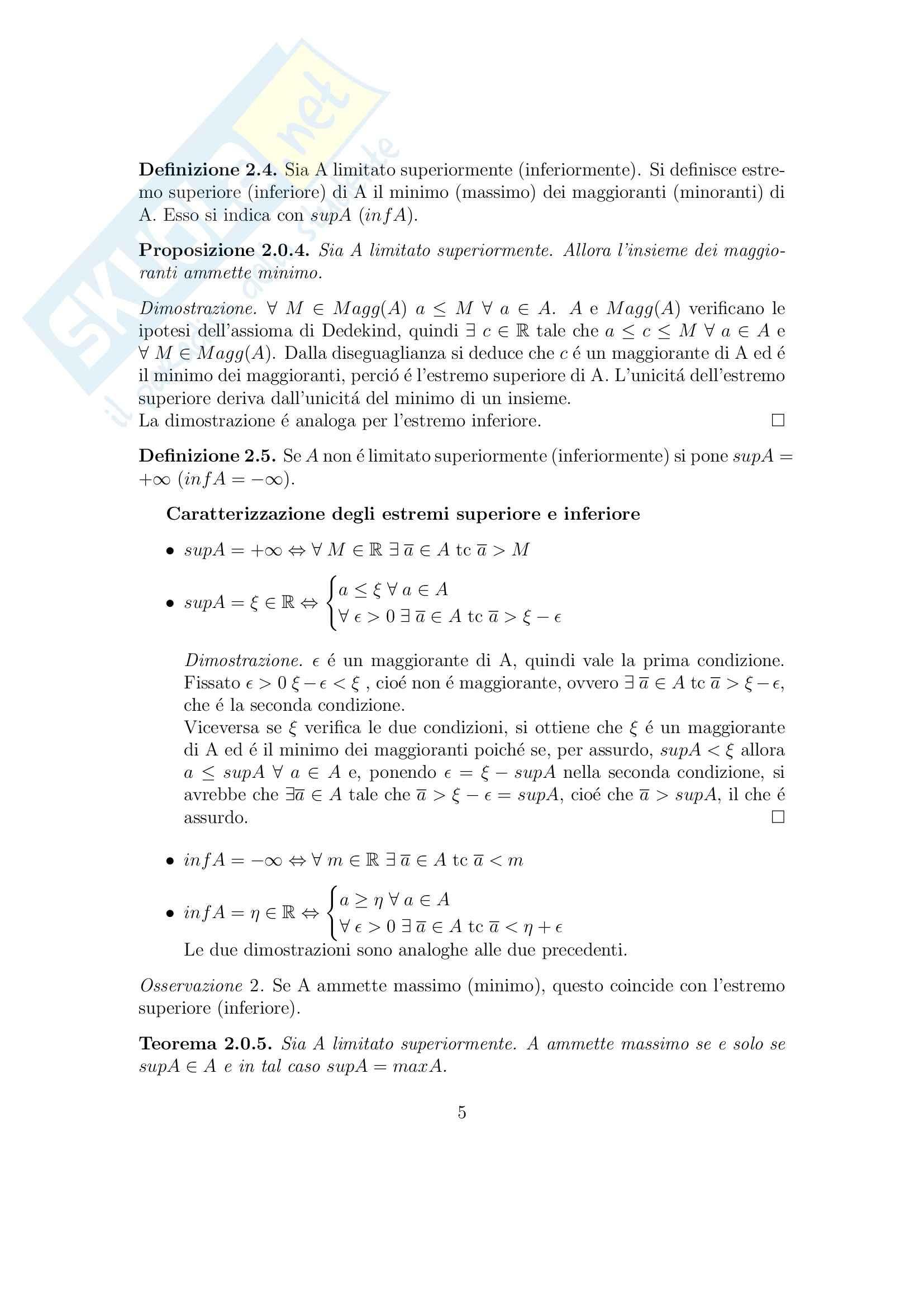 Analisi matematica 1 - Appunti Pag. 6