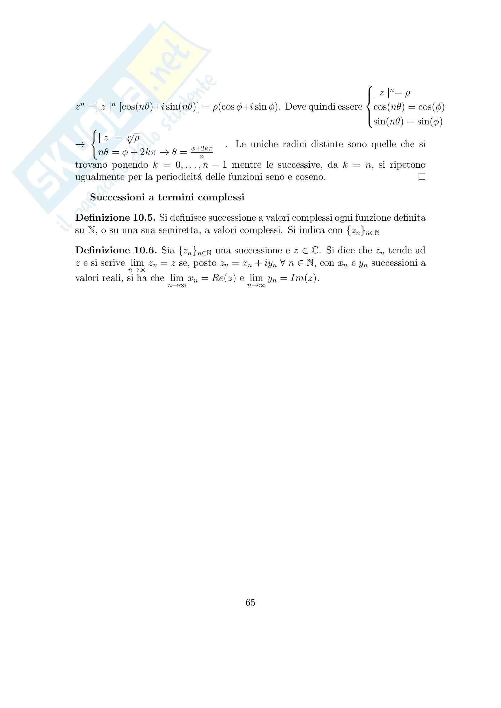 Analisi matematica 1 - Appunti Pag. 66