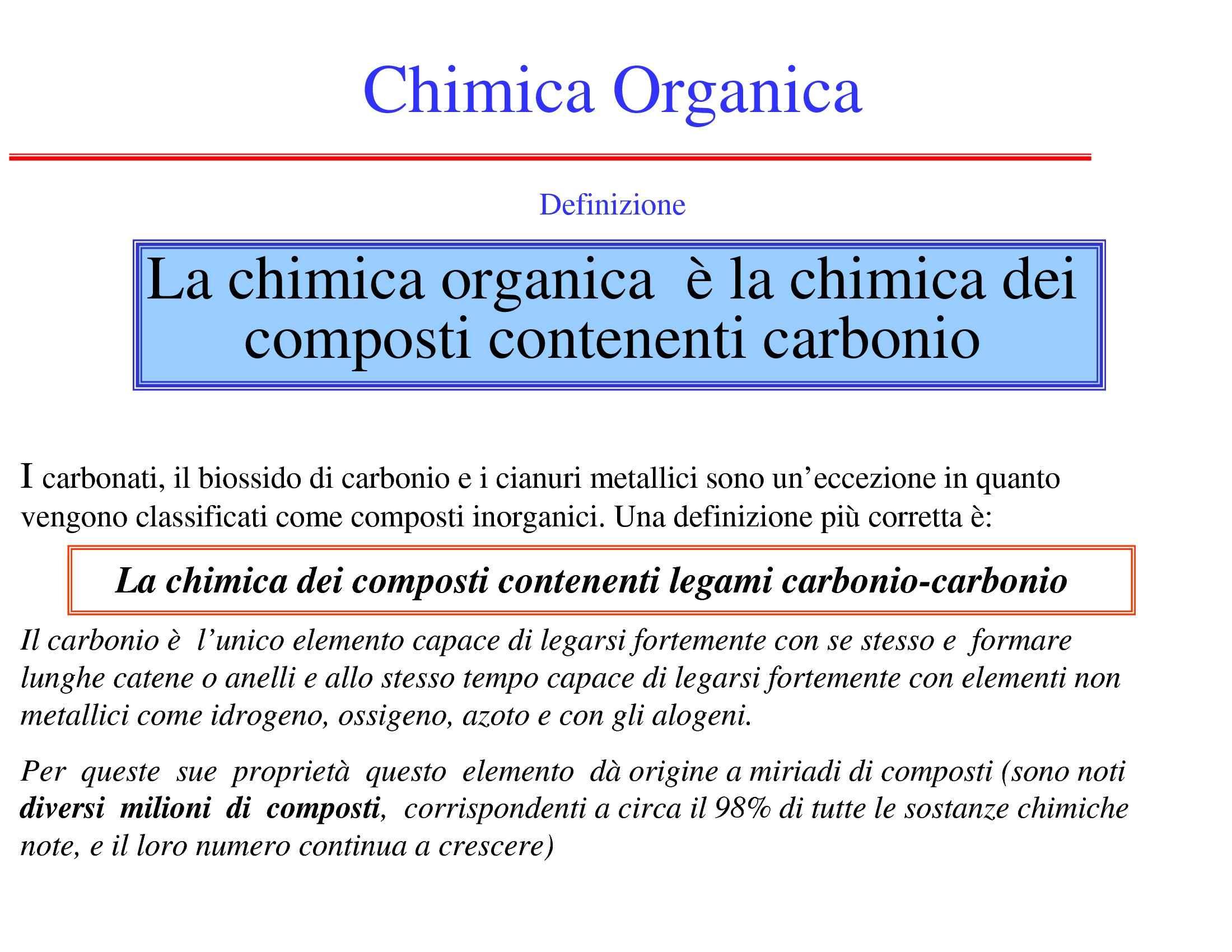 Chimica organica - Idrocarburi