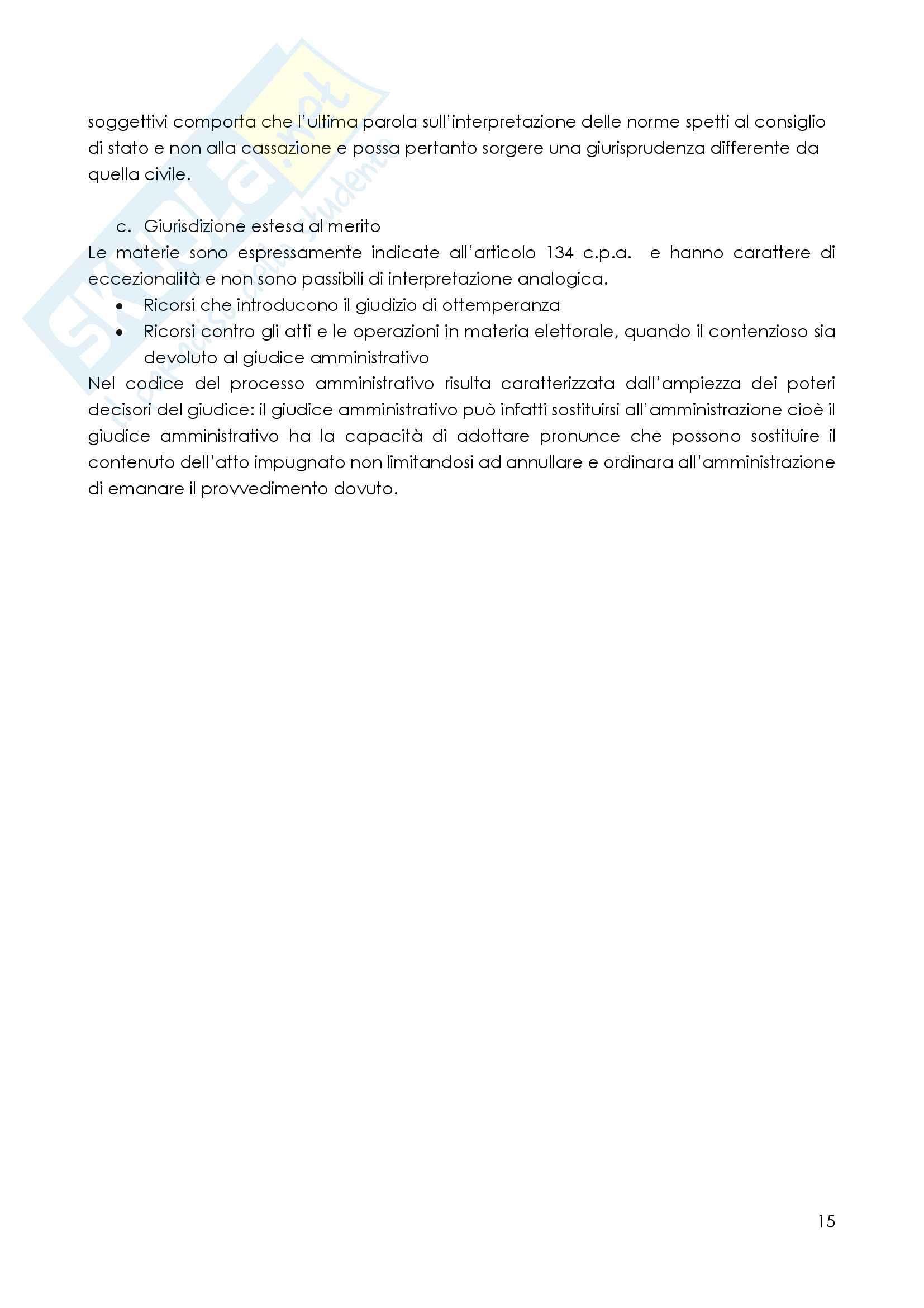 Il processo amministrativo Pag. 16