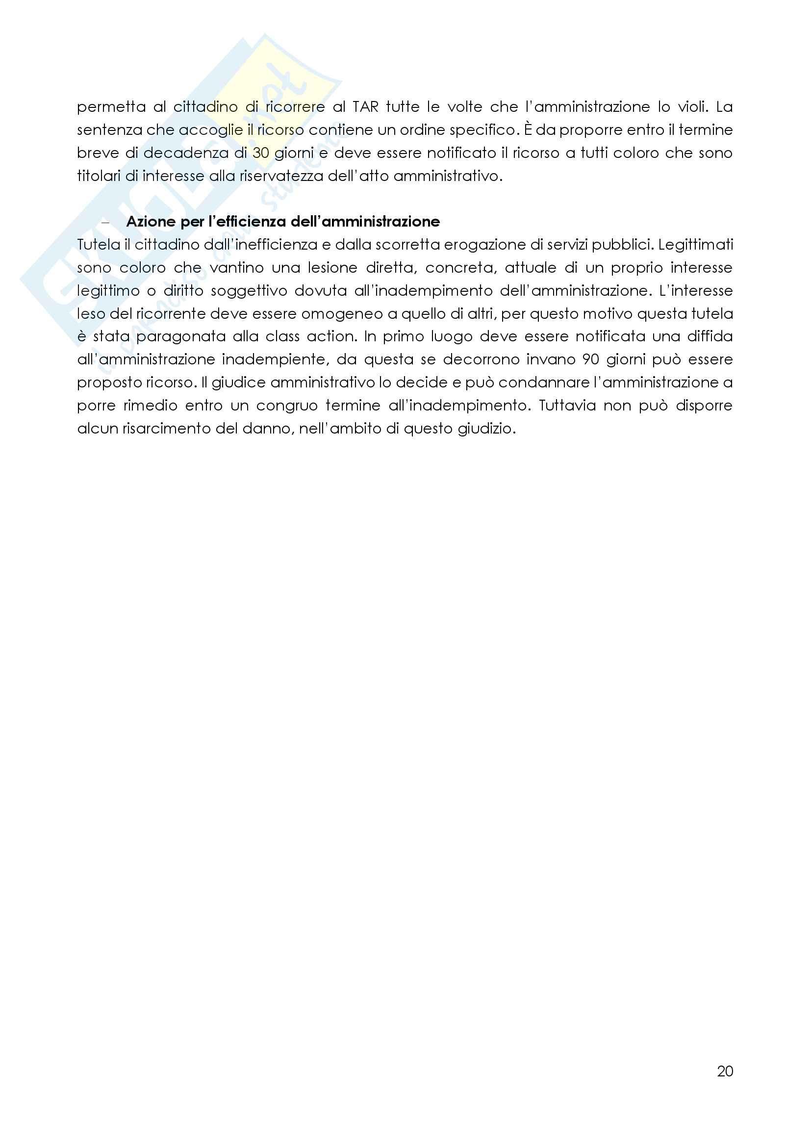 Il processo amministrativo Pag. 21