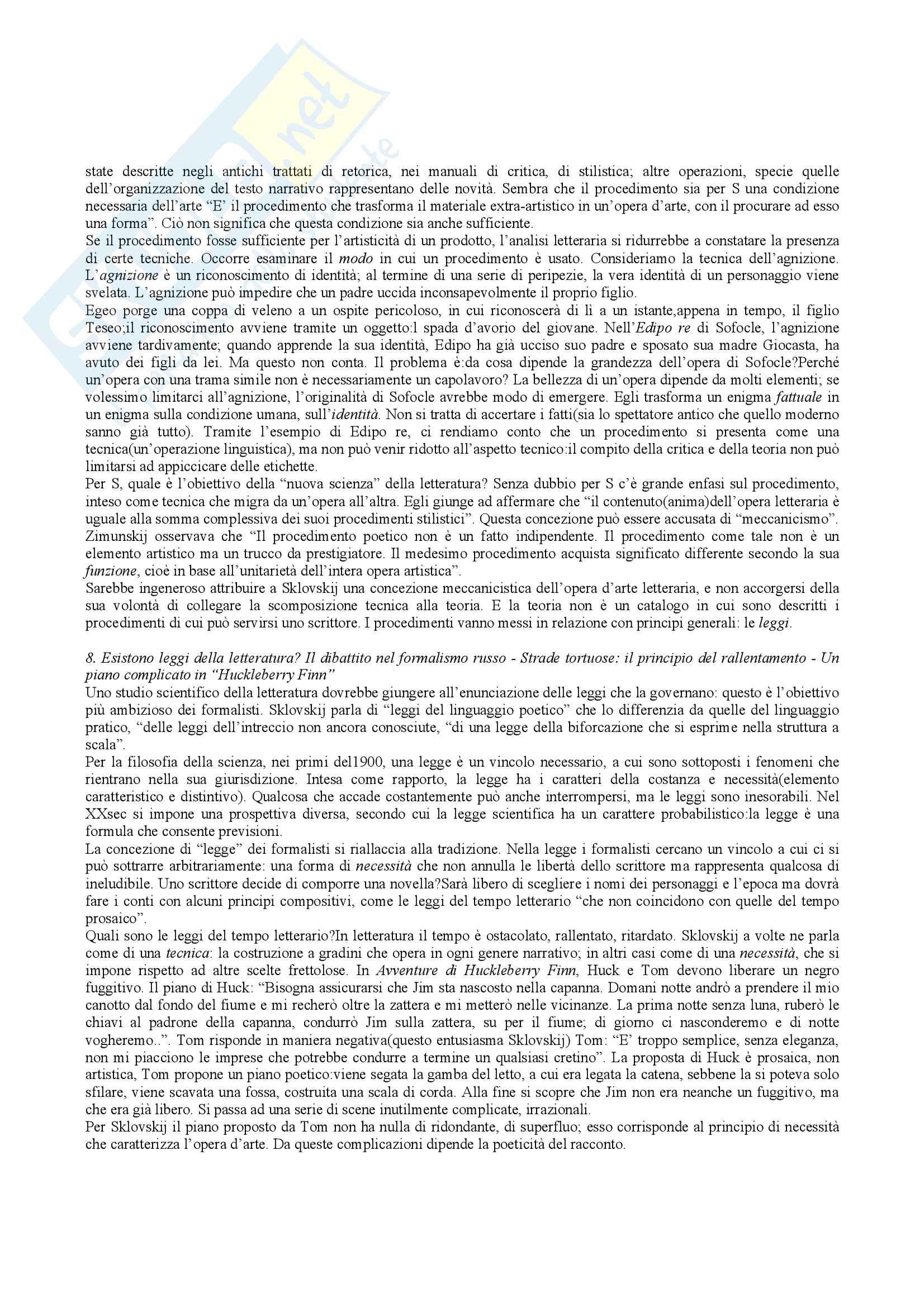 Riassunto esame teoria della letteratura, docente Bova, libro consigliato Che cos'è la teoria della letteratura, Bottiroli Pag. 11