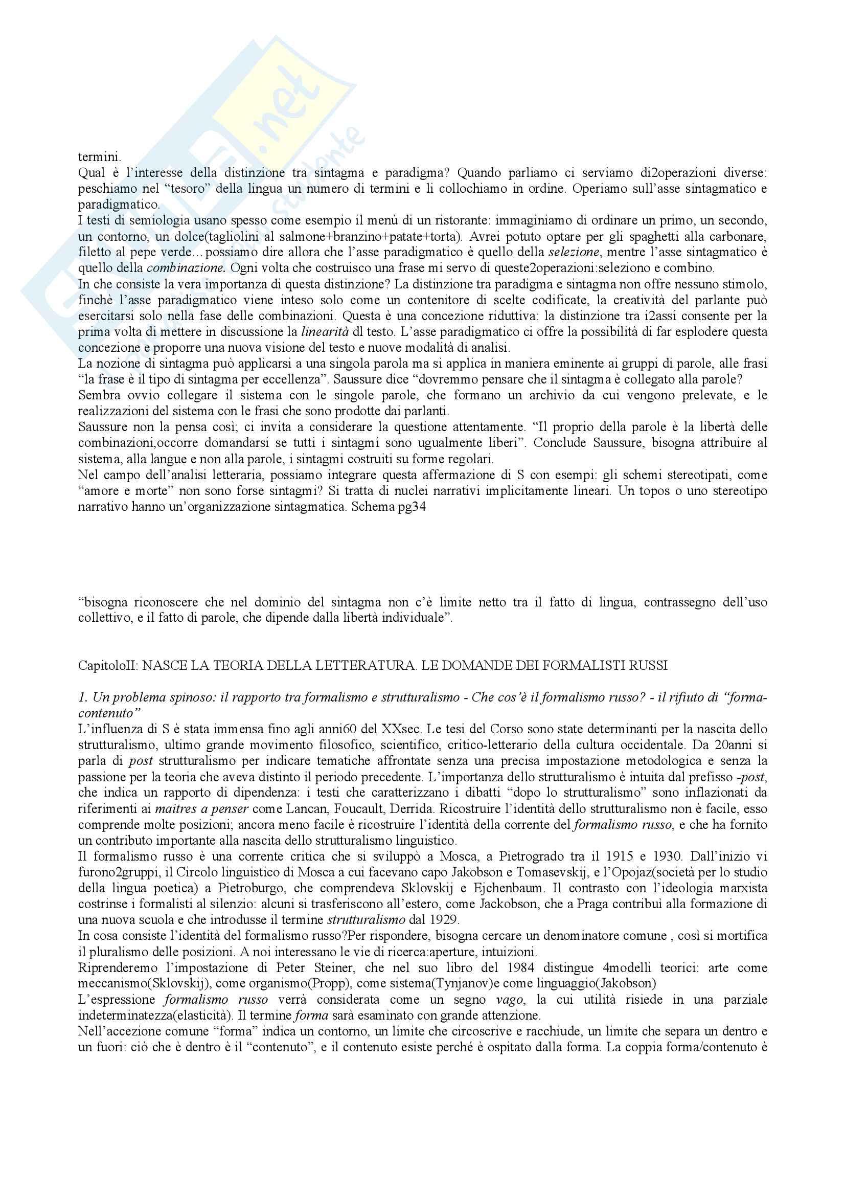 Riassunto esame teoria della letteratura, docente Bova, libro consigliato Che cos'è la teoria della letteratura, Bottiroli Pag. 6