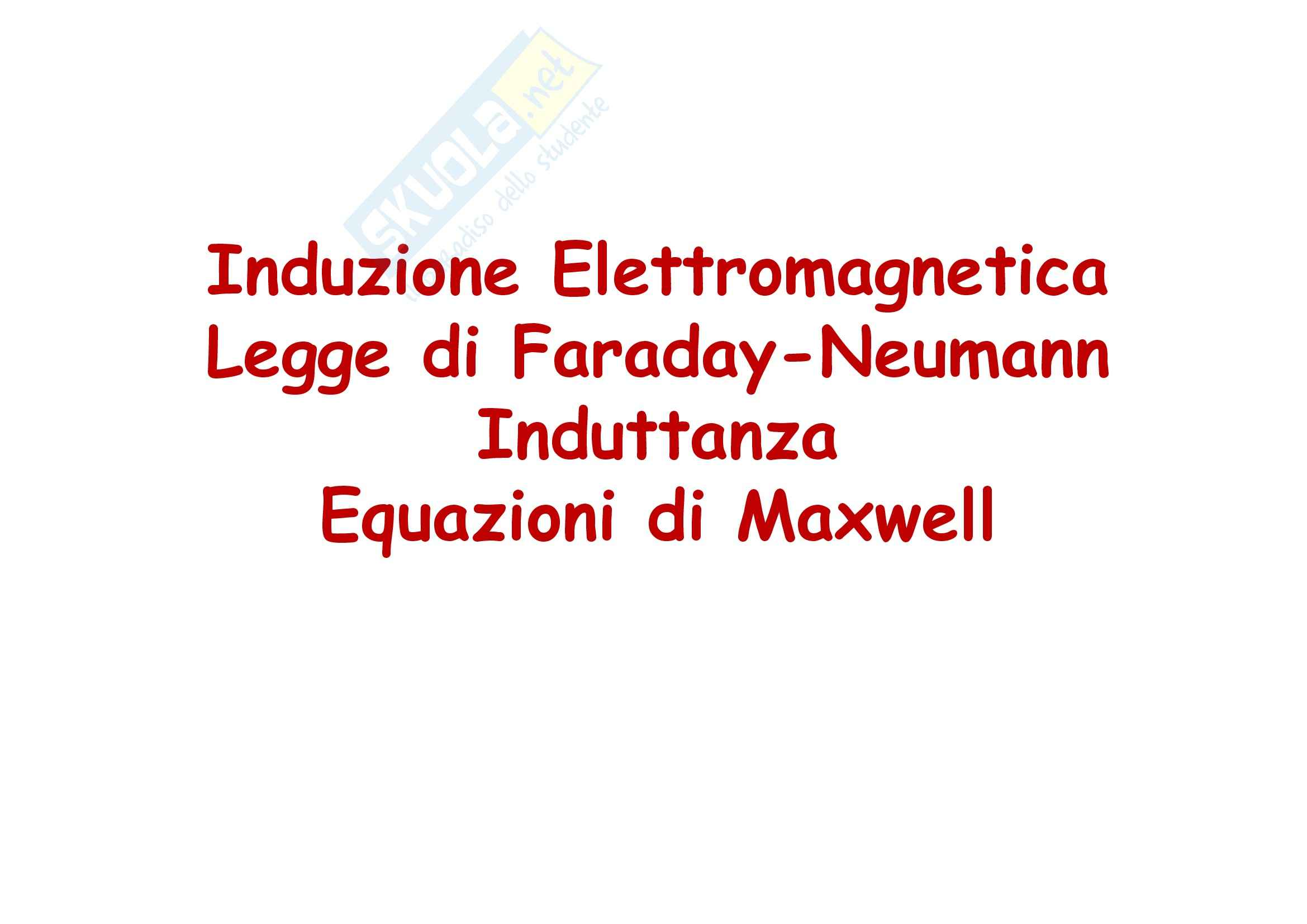 Fisica generale - l'induzione elettromagnetica e Legge di Faraday