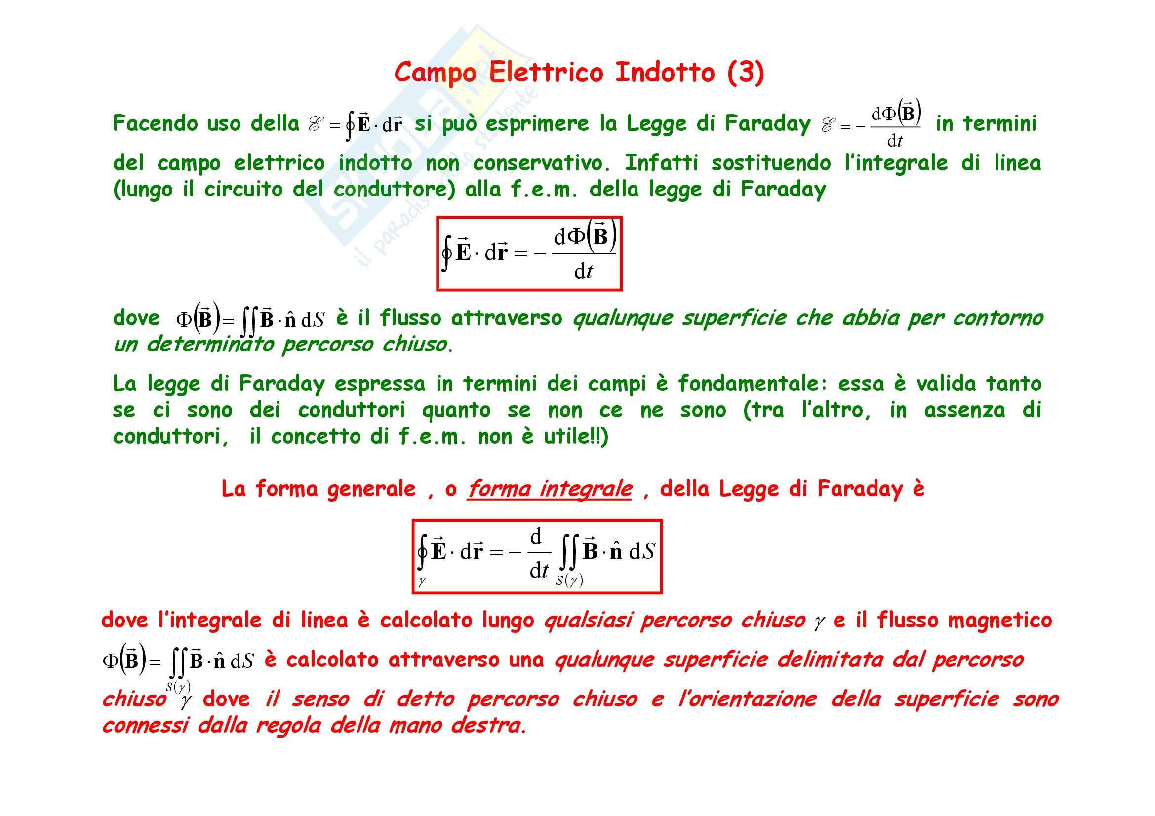 Fisica generale - l'induzione elettromagnetica e Legge di Faraday Pag. 16