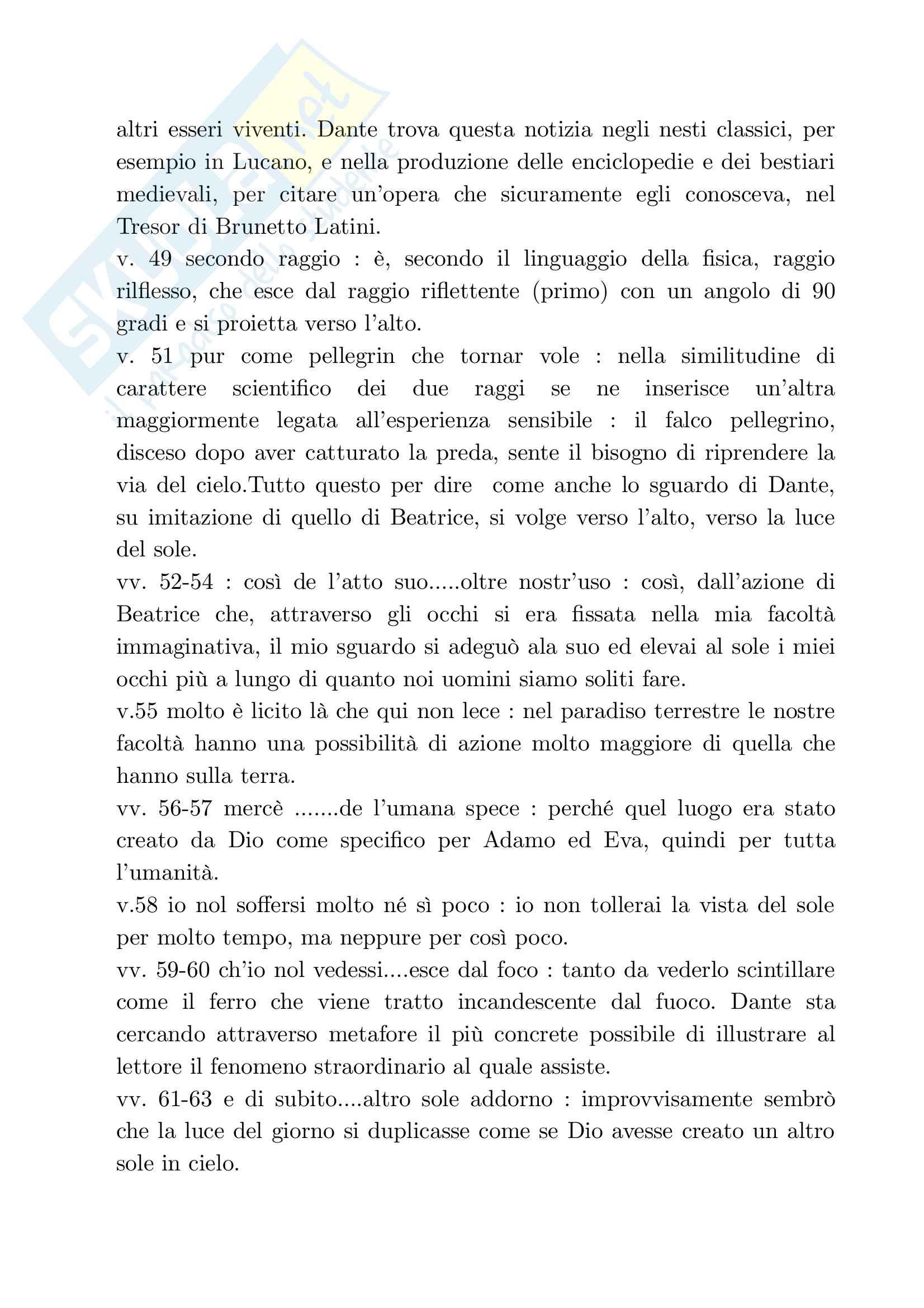 Analisi del Paradiso (Divina Commedia) Pag. 16