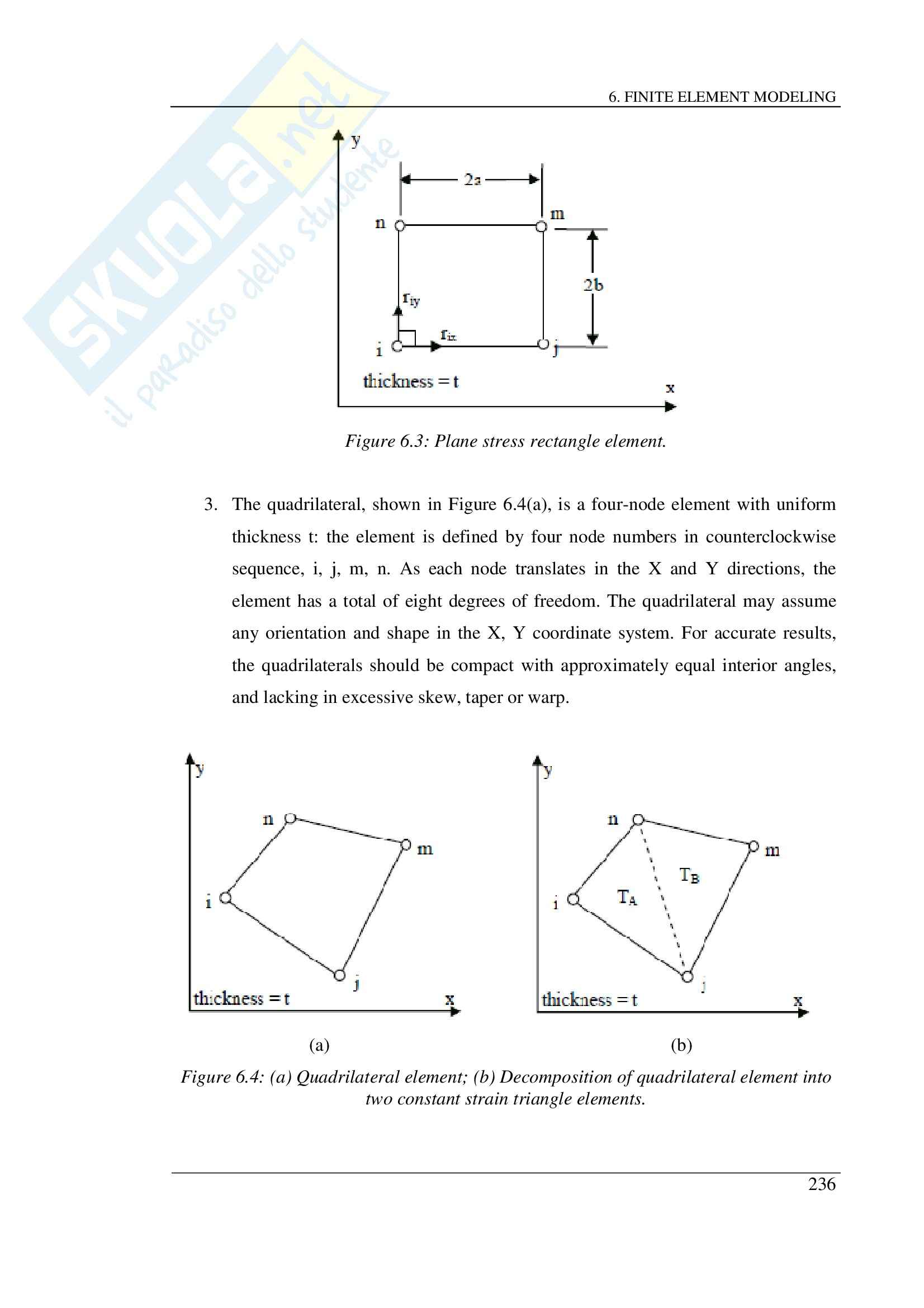 Experimental study on fiber-reinforced concrete panels subjected to shear, Finite Element Modeling - Tesi Pag. 6