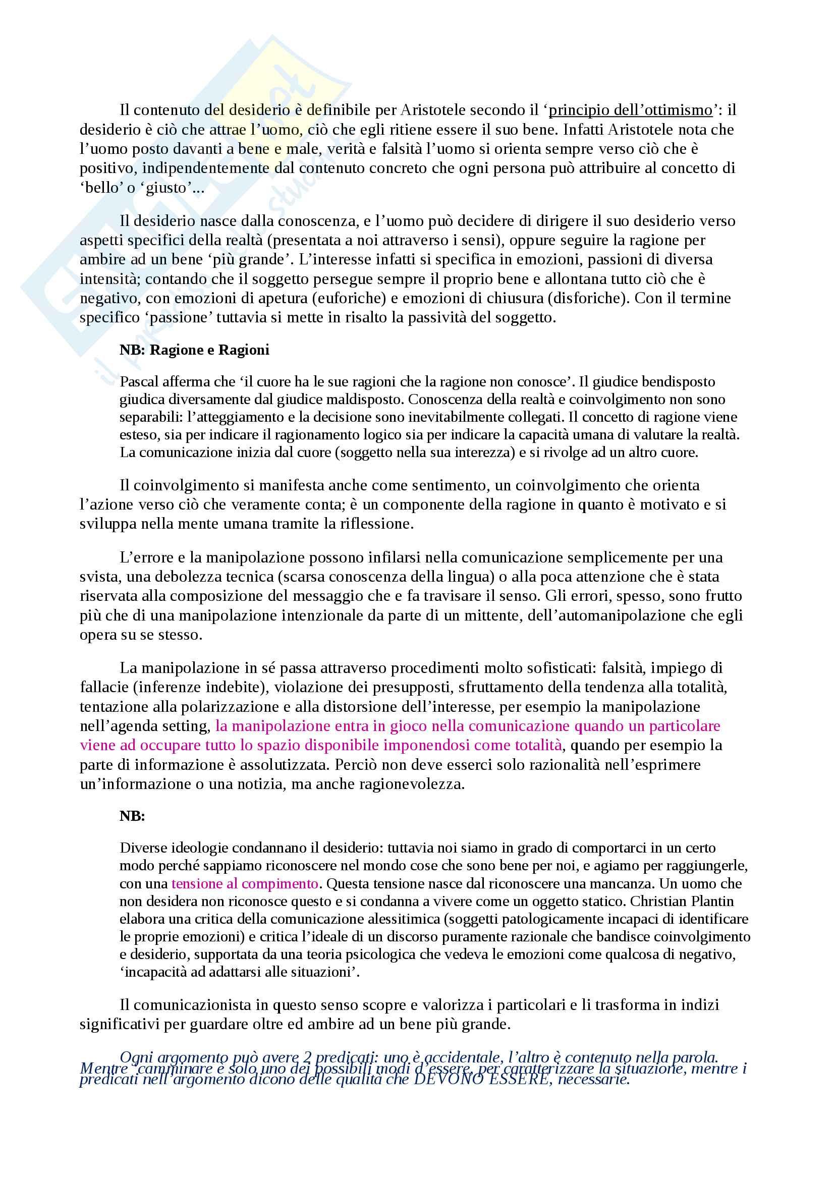 Appunti per Linguistica Generale, prof Gatti, libro consigliato La Comunicazione Verbale, Rigotti e Cigada Pag. 21
