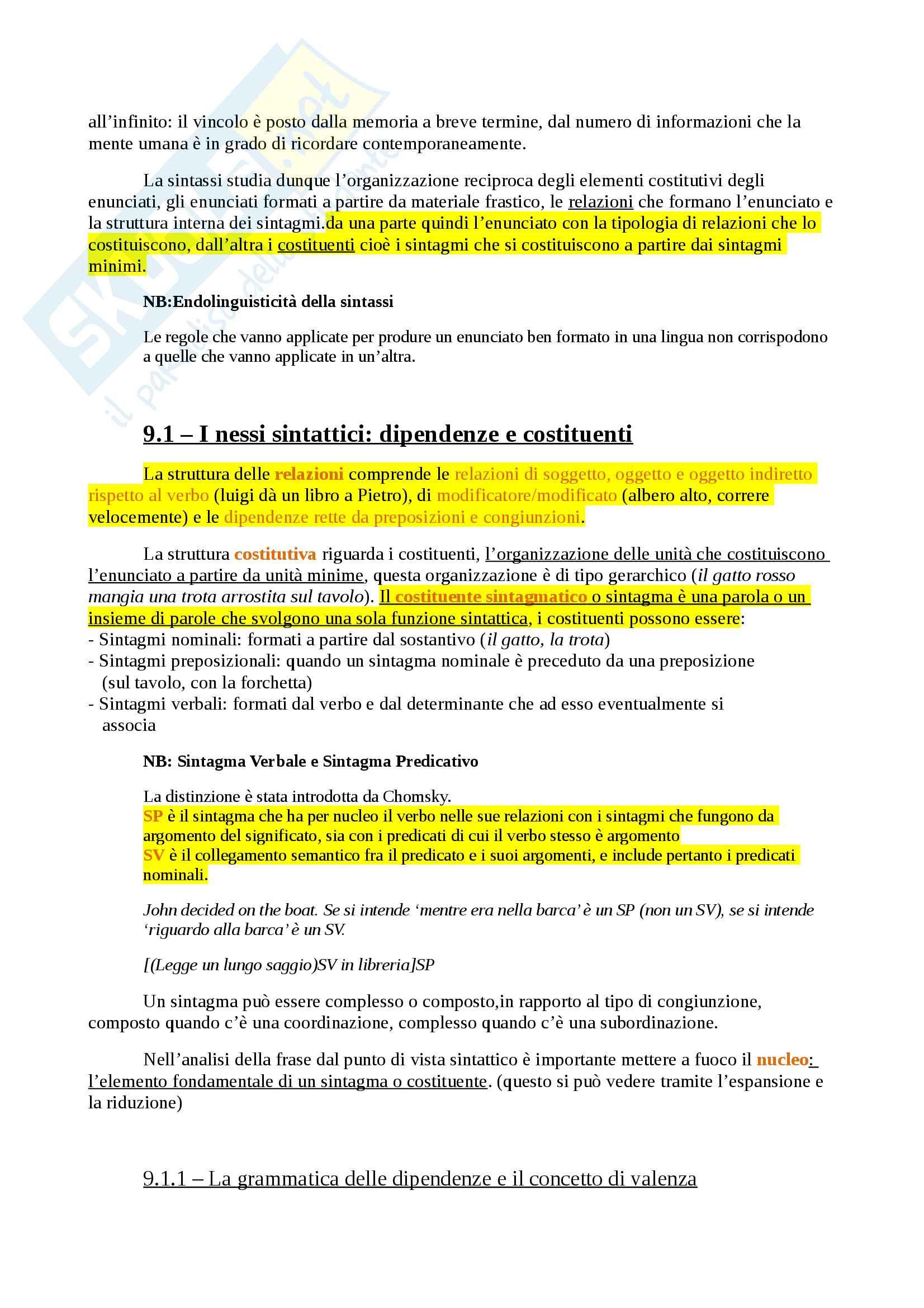 Appunti per Linguistica Generale, prof Gatti, libro consigliato La Comunicazione Verbale, Rigotti e Cigada Pag. 36