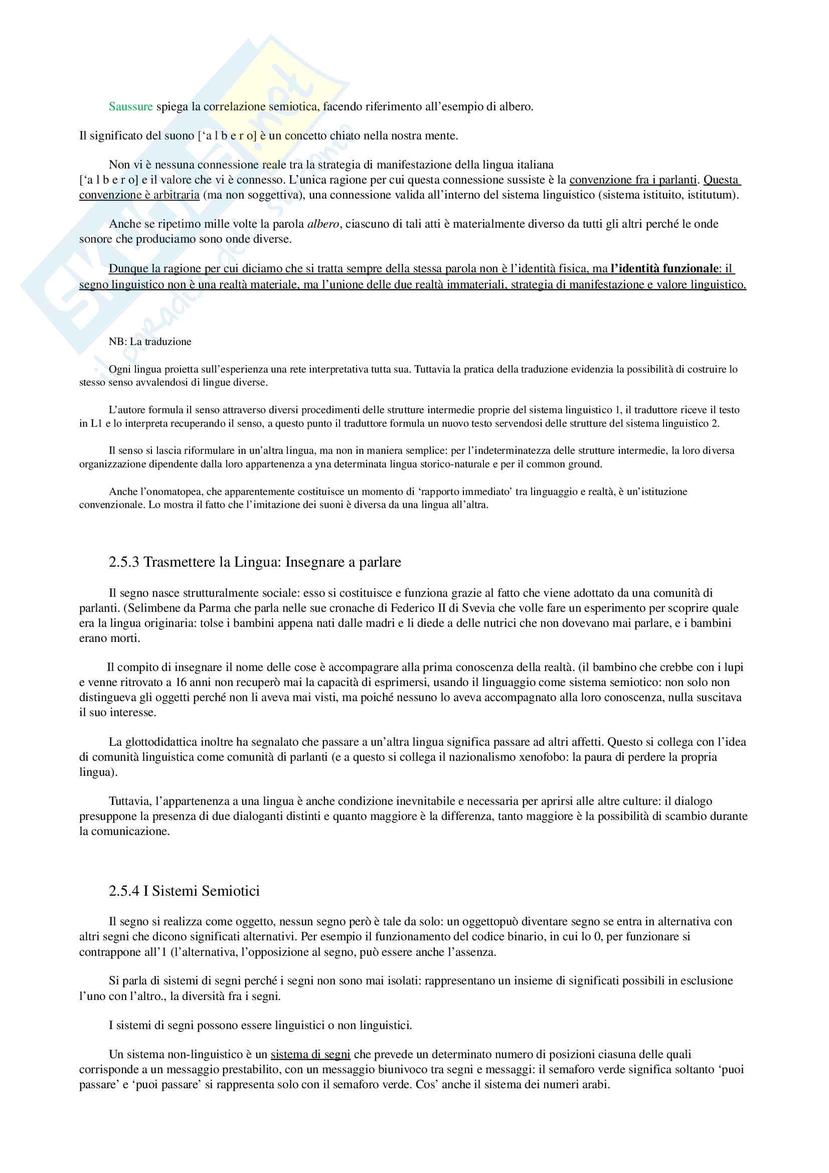 Appunti per Linguistica Generale, prof Gatti, libro consigliato La Comunicazione Verbale, Rigotti e Cigada Pag. 6