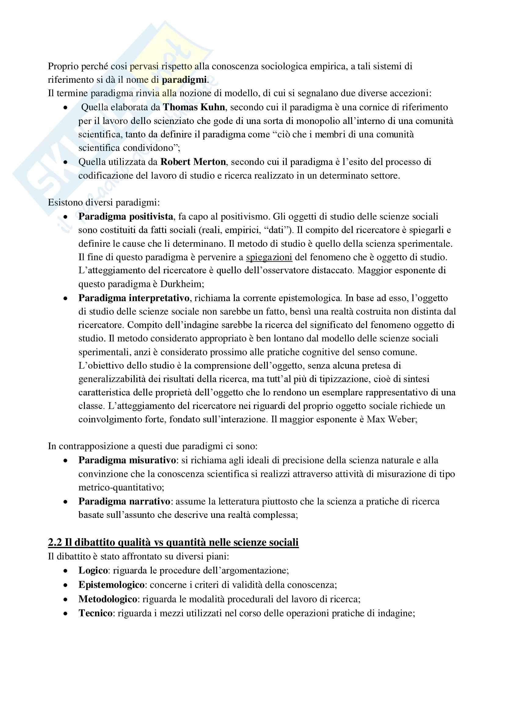 Riassunto esame Metodologia, prof. Fasanella, libro consigliato Il disegno della ricerca sociale, Agnolli Pag. 11