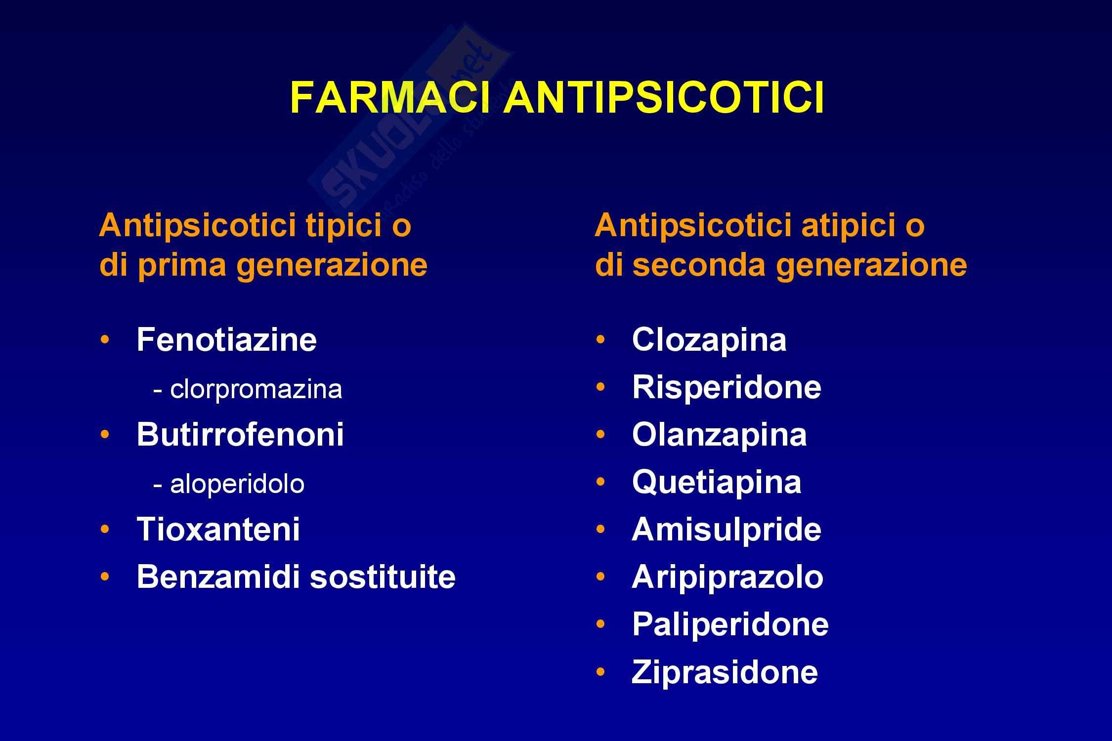 Farmaci antipsicotici Pag. 16