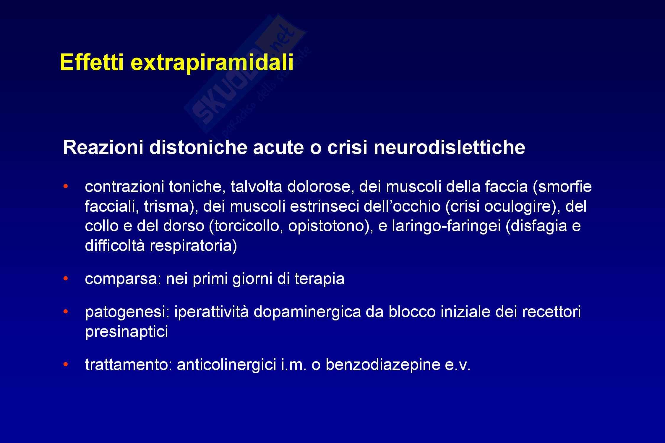 Farmaci antipsicotici Pag. 91