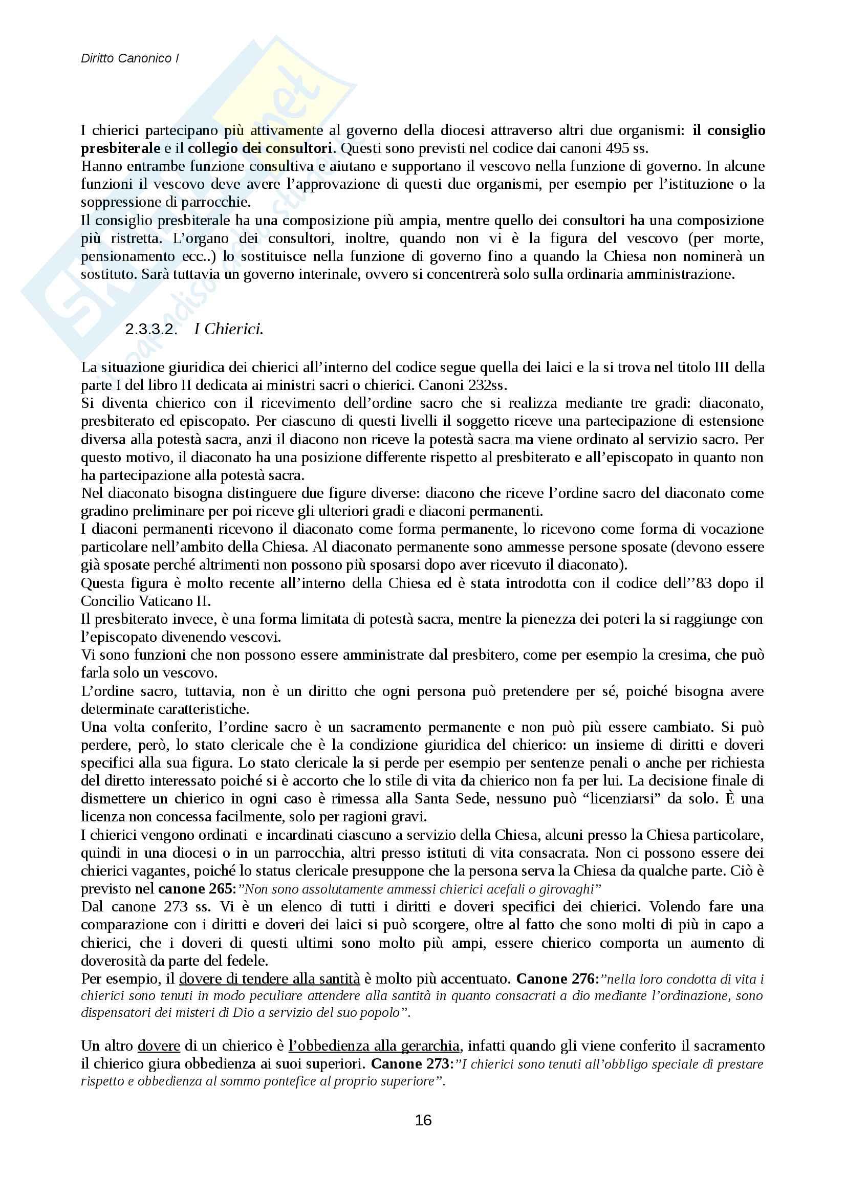 Diritto canonico Pag. 16