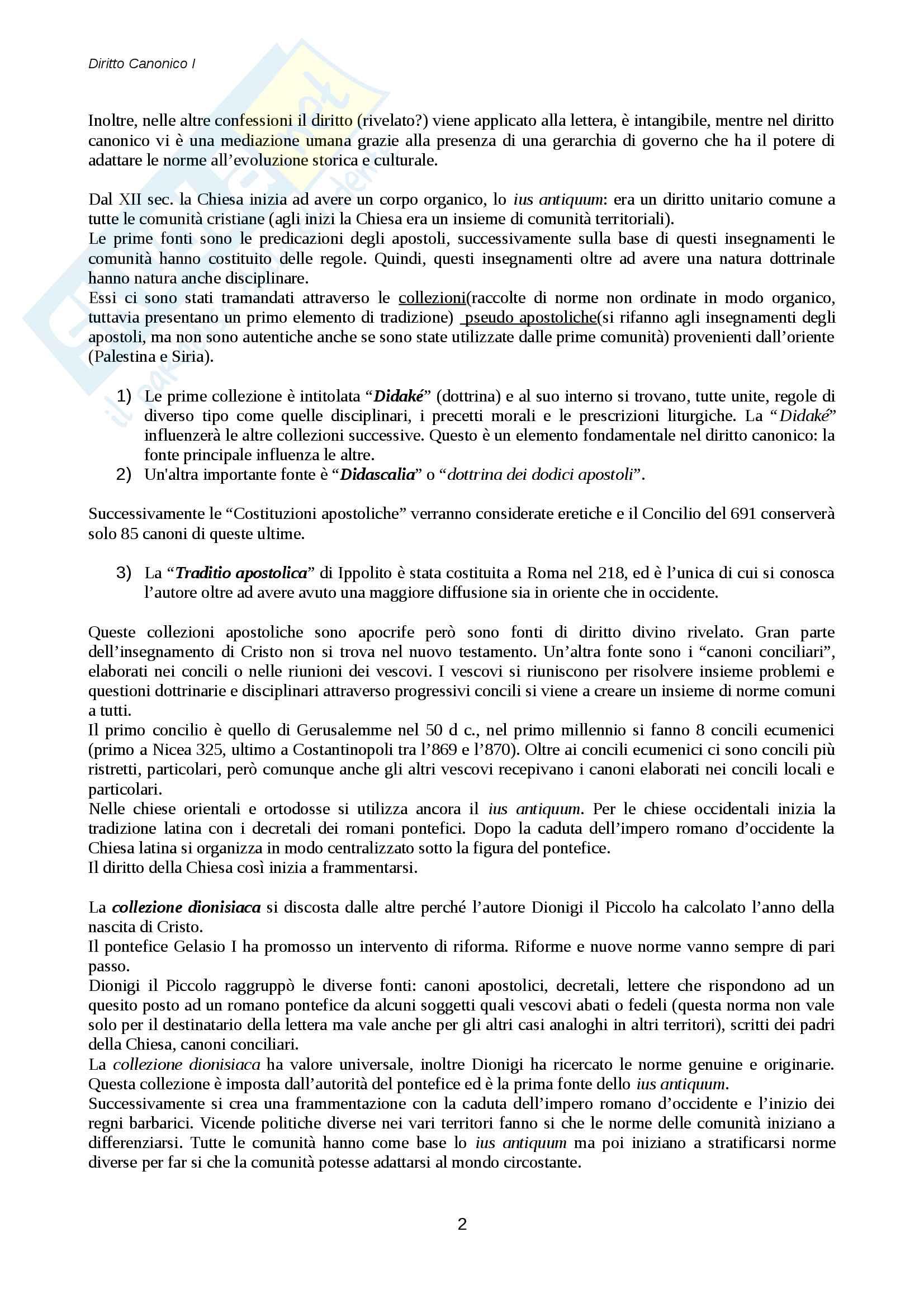 Diritto canonico Pag. 2