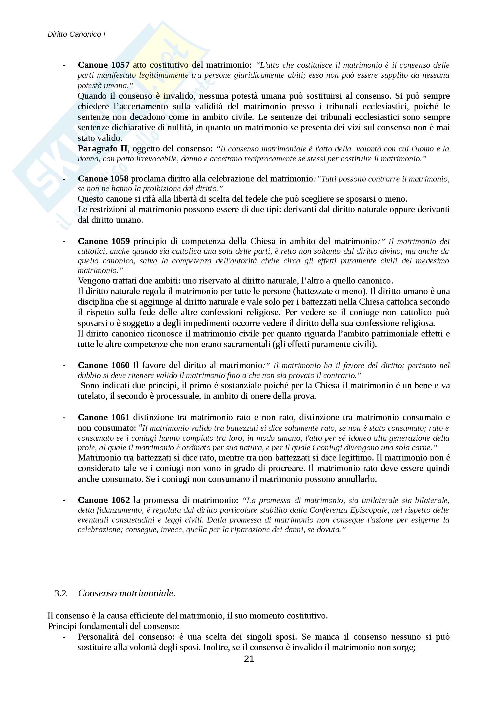 Diritto canonico Pag. 21