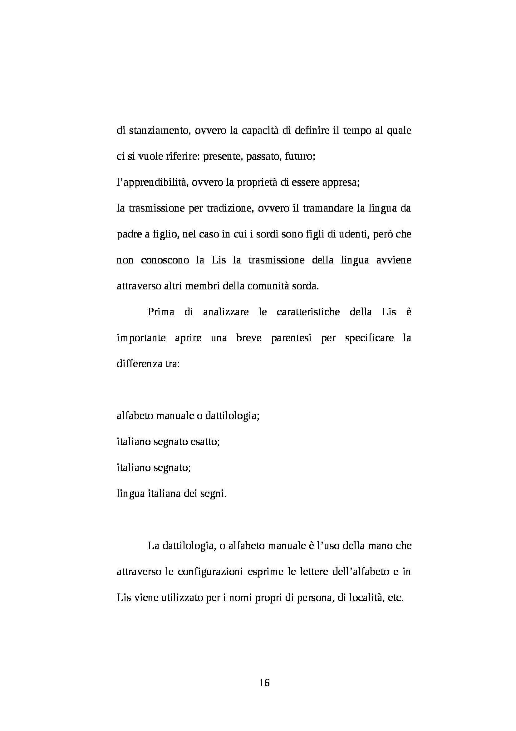 TESI VIAGGIO NELLA CITTA INVISIBILE ( L'handicap della sordità) Pag. 16