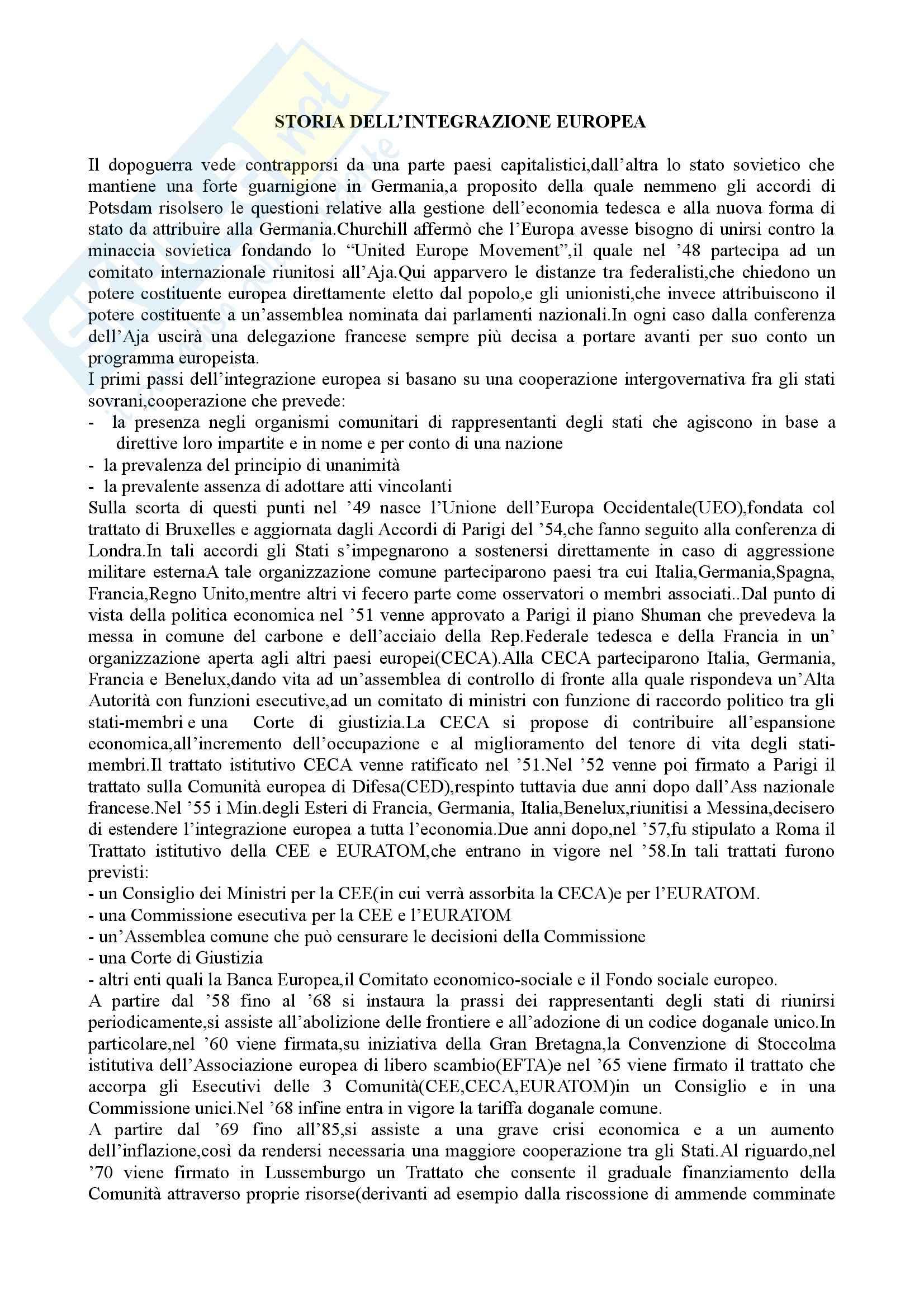 appunto P. Scienze giuridiche Diritto unione europea