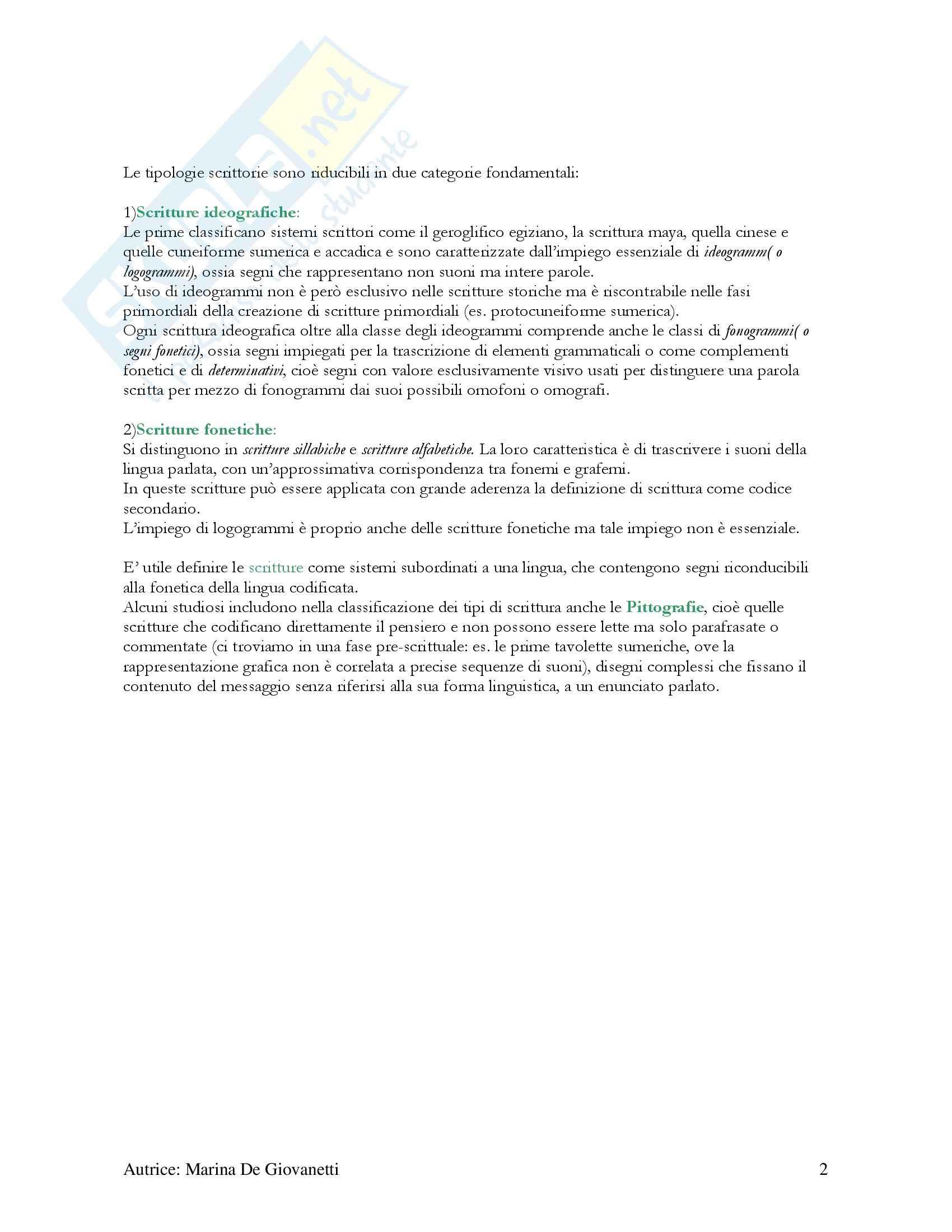 Riassunto esame Antropologia della Scrittura, prof. Facchetti, libro consigliato Pag. 2