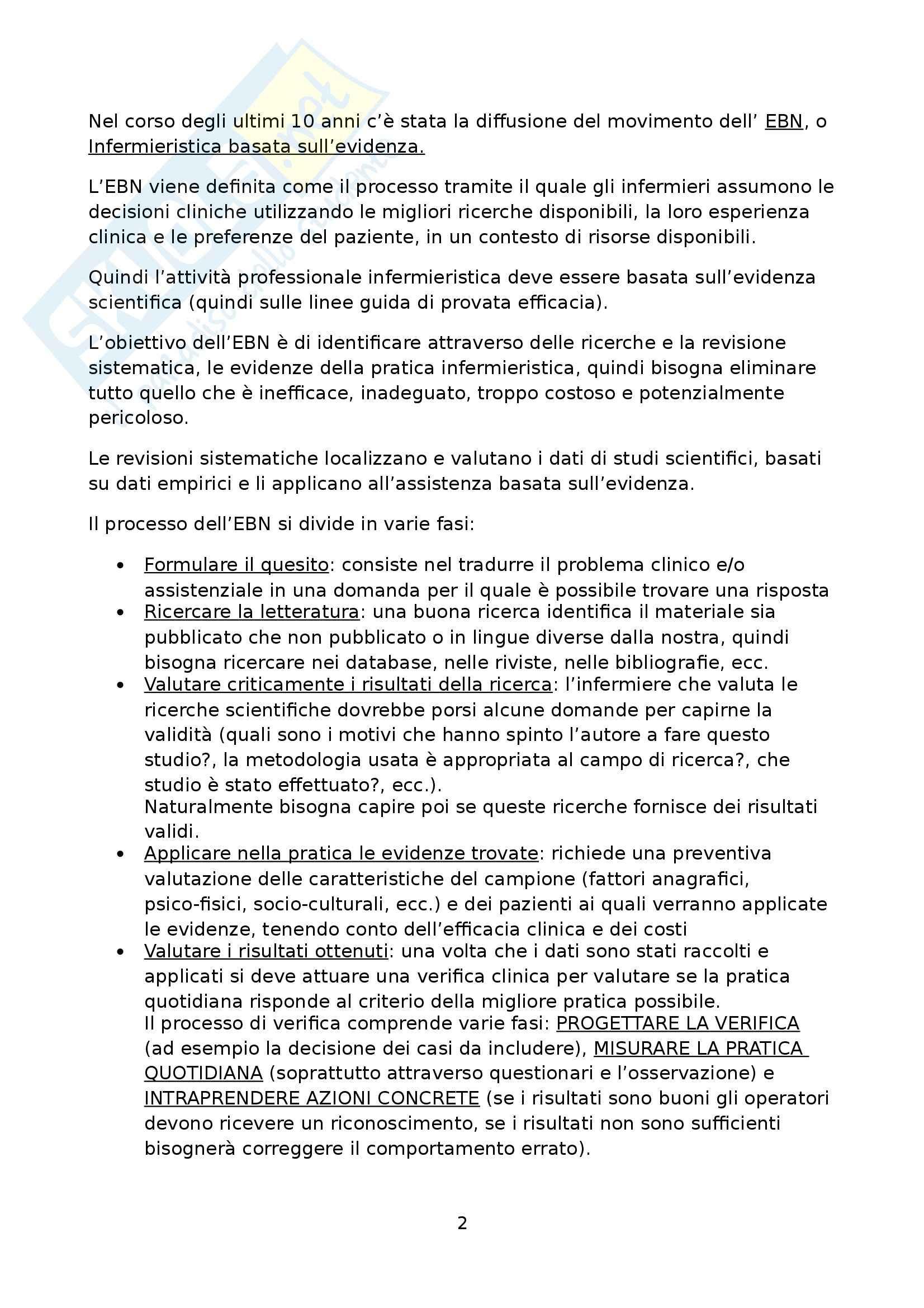 Infermieristica clinica III - Metodologia della ricerca Pag. 2