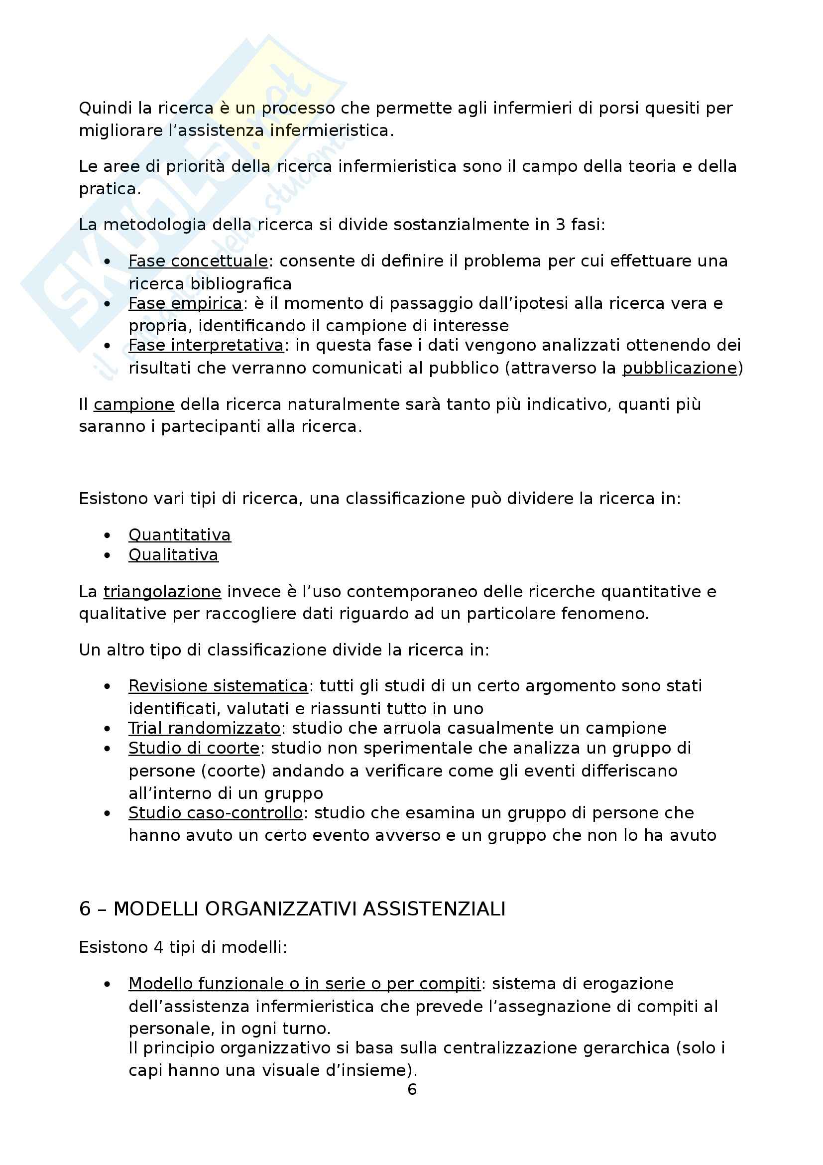 Infermieristica clinica III - Metodologia della ricerca Pag. 6