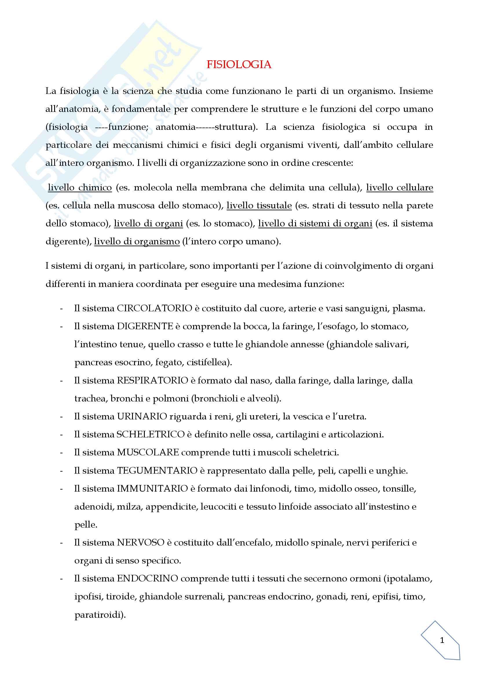 Fisiologia, introduzione