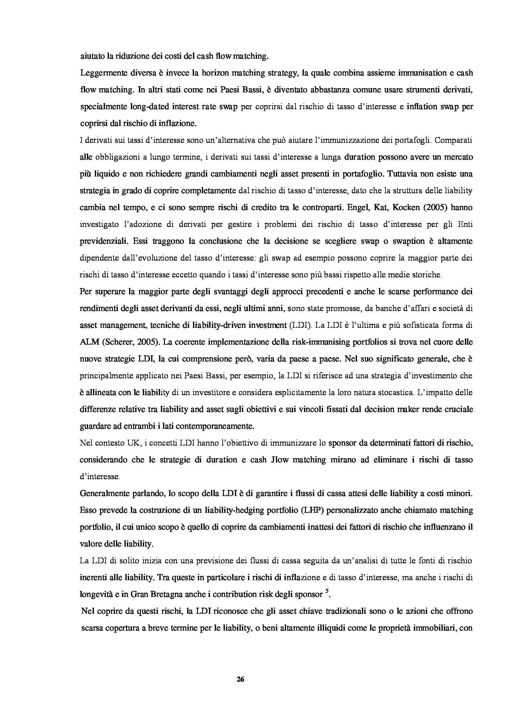 Tesi - La gestione Asset Liability degli Enti Previdenziali Pag. 26