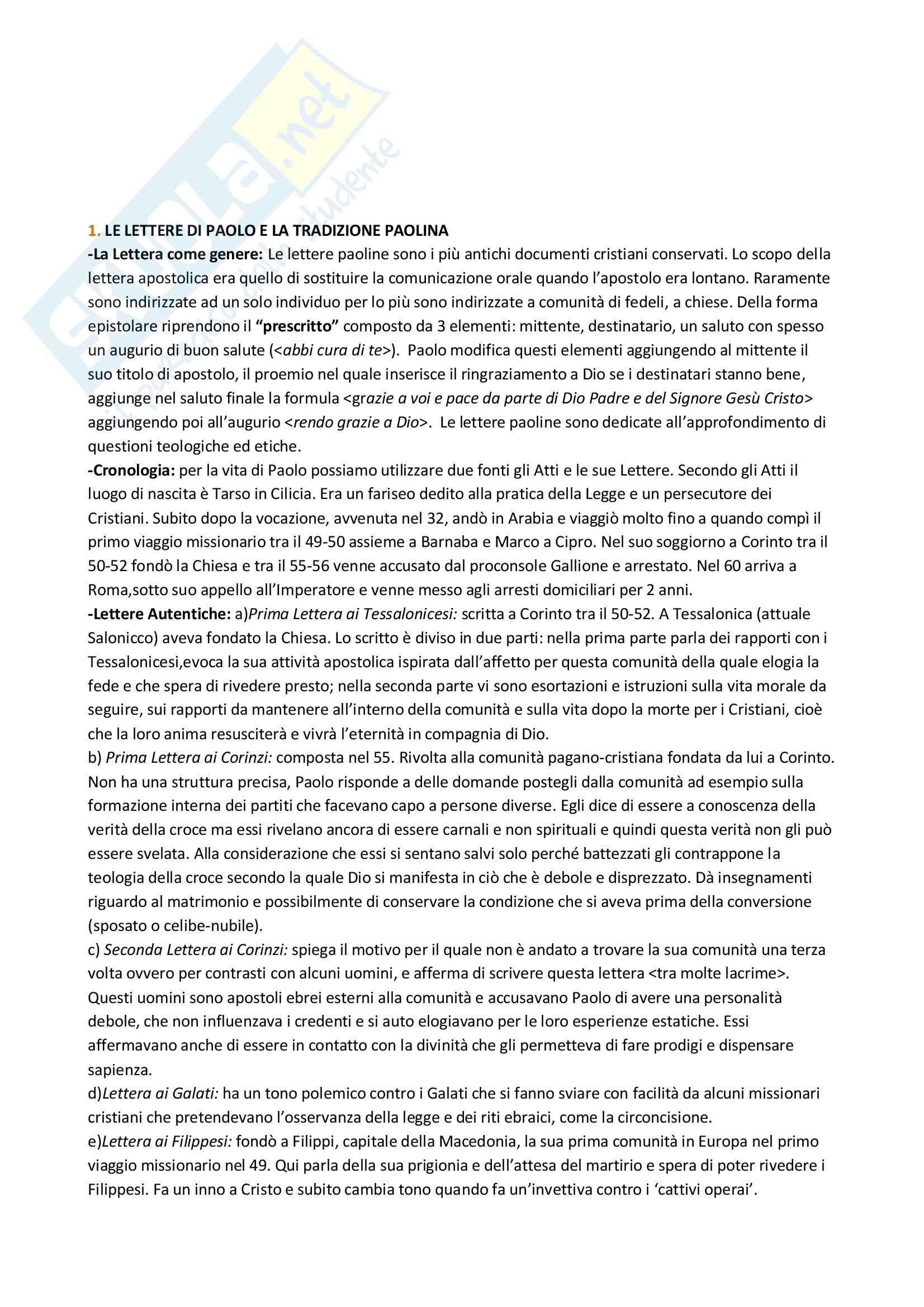 Riassunto esameLetteratura, prof. Ciccarese, libro consigliato Manuale di Letteratura Cristiana Antica, Moreschini