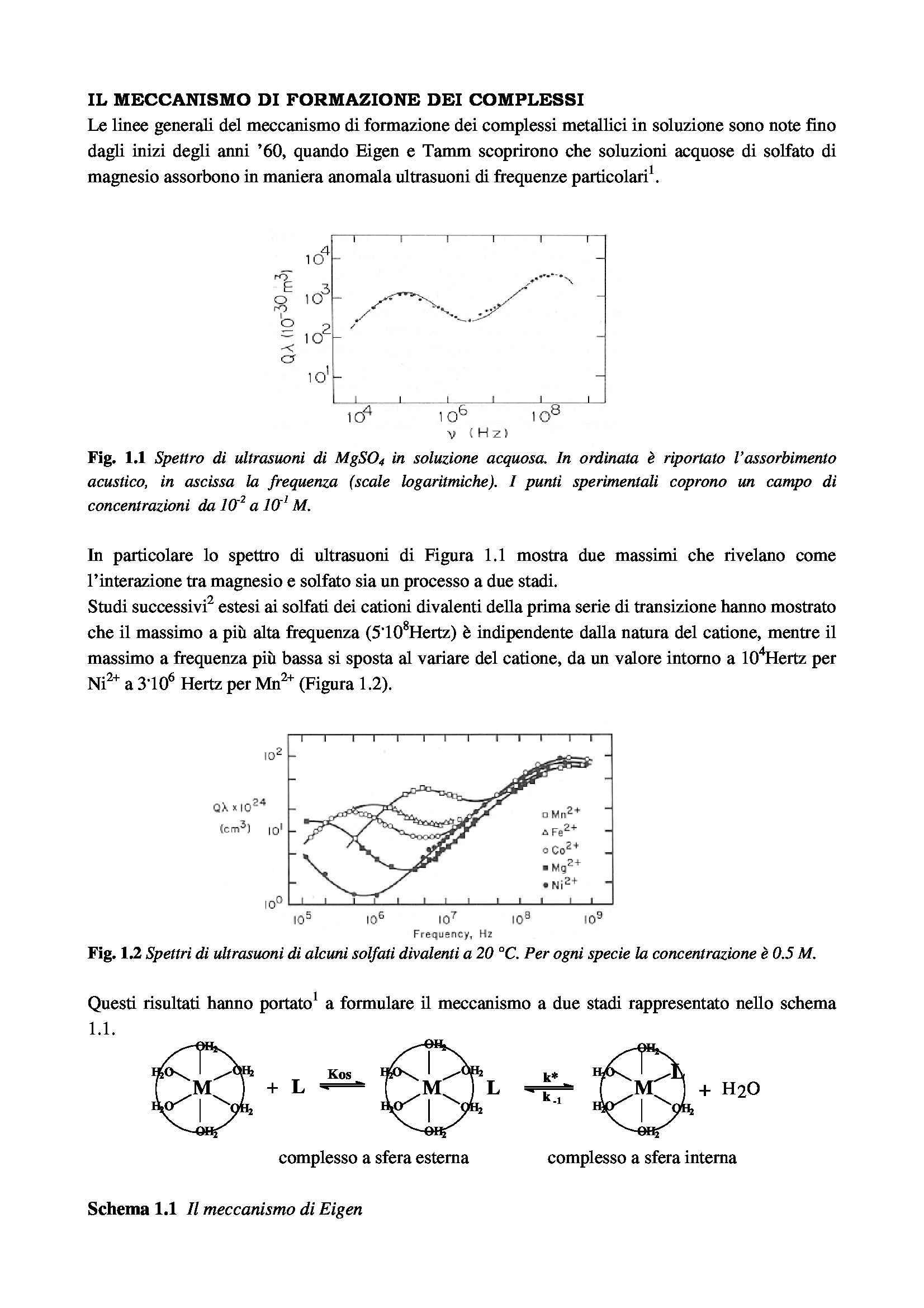 Meccanismo di formazione dei complessi metallici
