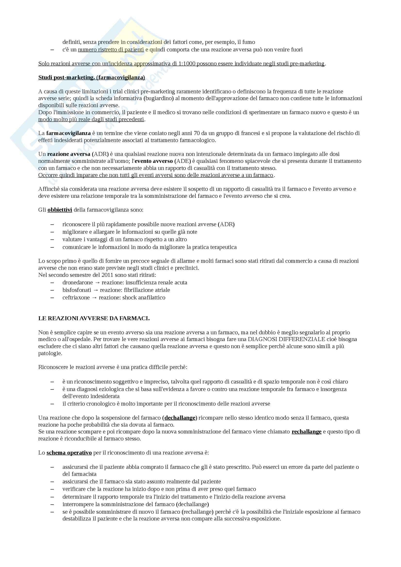 Farmacologia e farmacognosia - Appunti Pag. 6