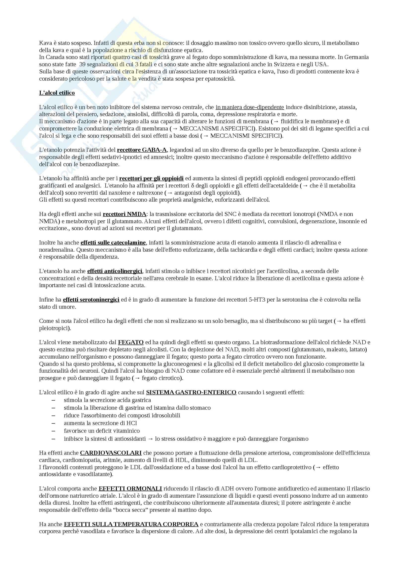 Farmacologia e farmacognosia - Appunti Pag. 71