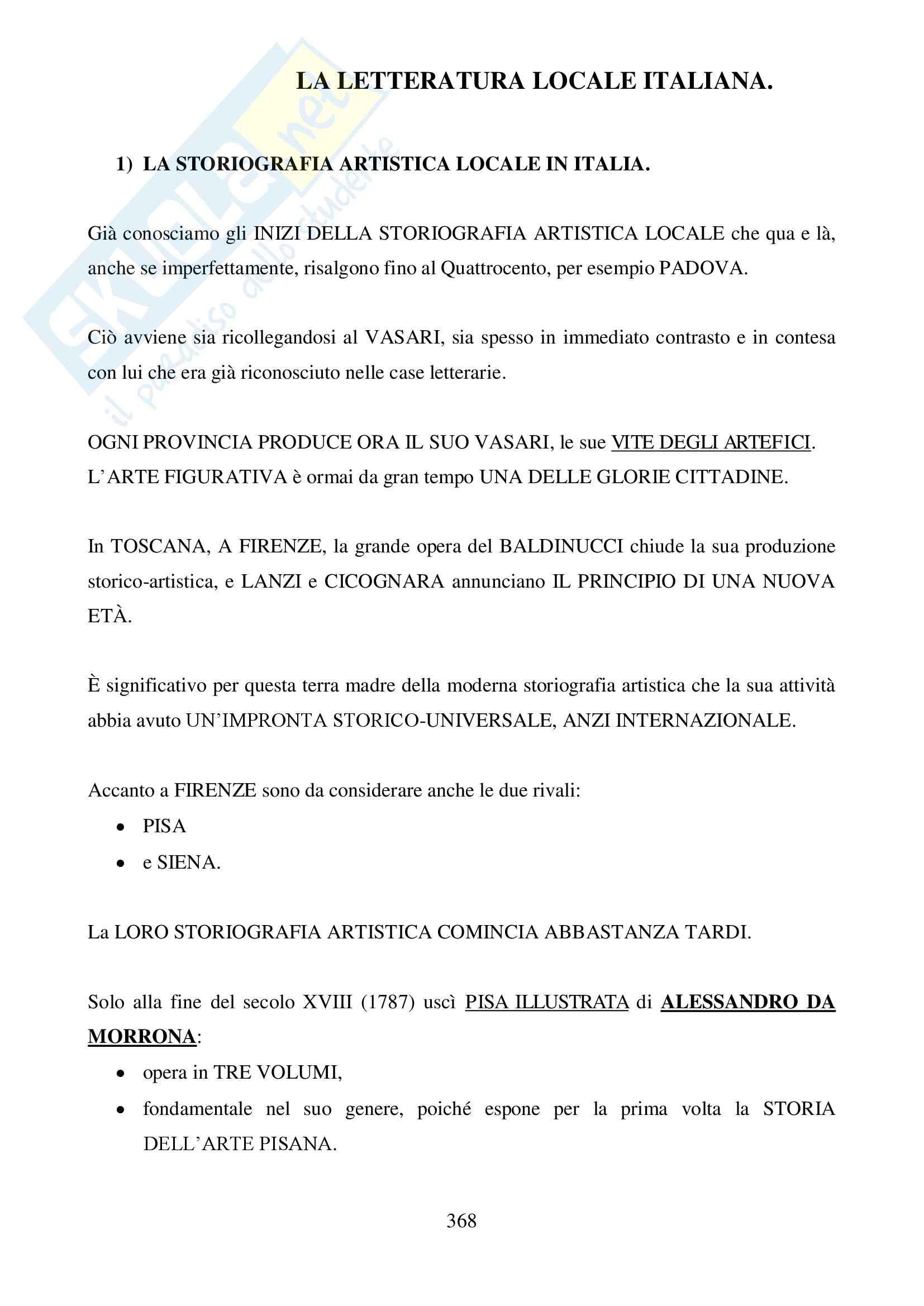Riassunto esame Storia della Critica d'Arte, prof. Agosti, libro consigliato La letteratura artistica, Schlosser Magnino: Libro VIII