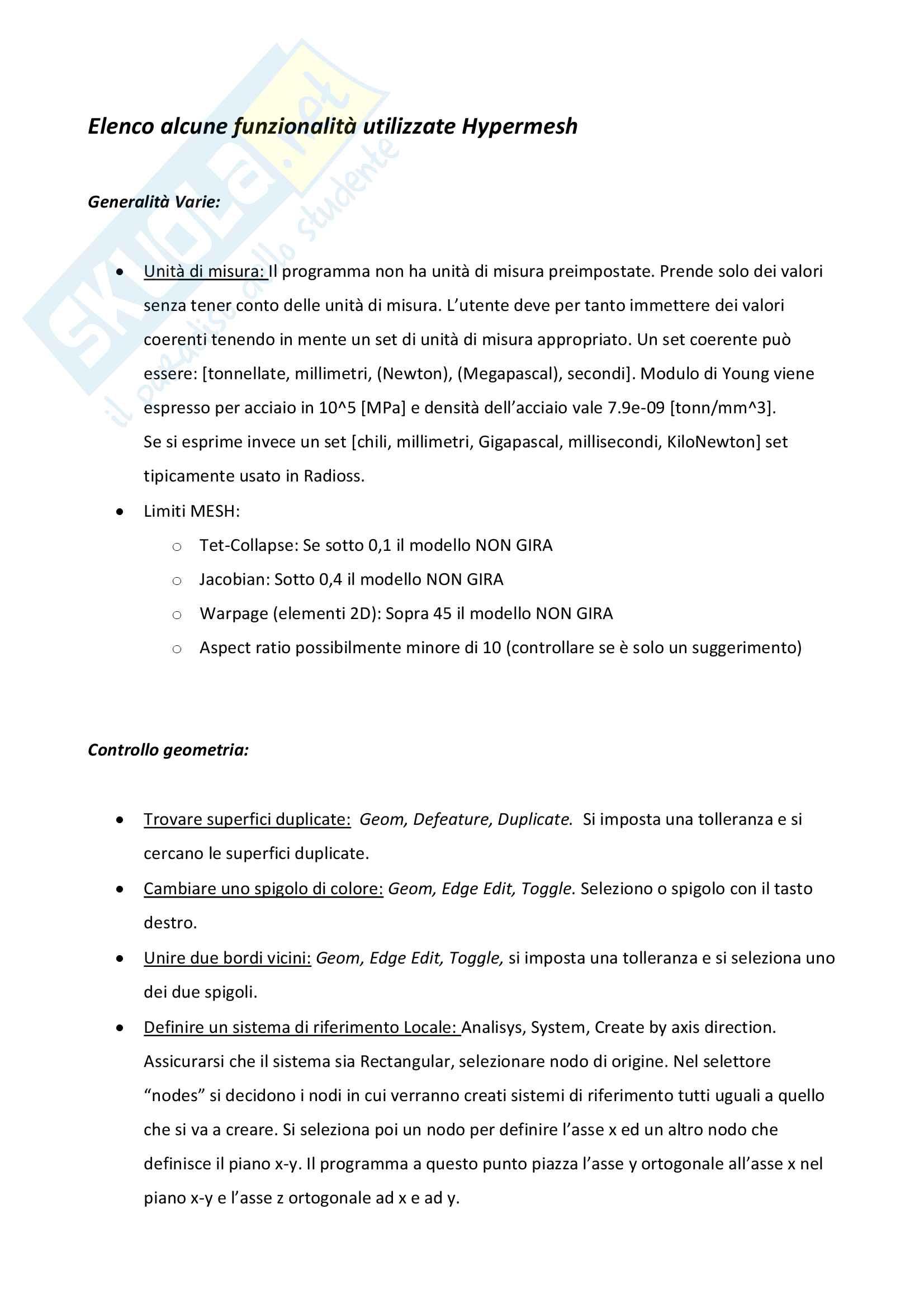 Guida pratica alle funzionalità di base di Hypermesh