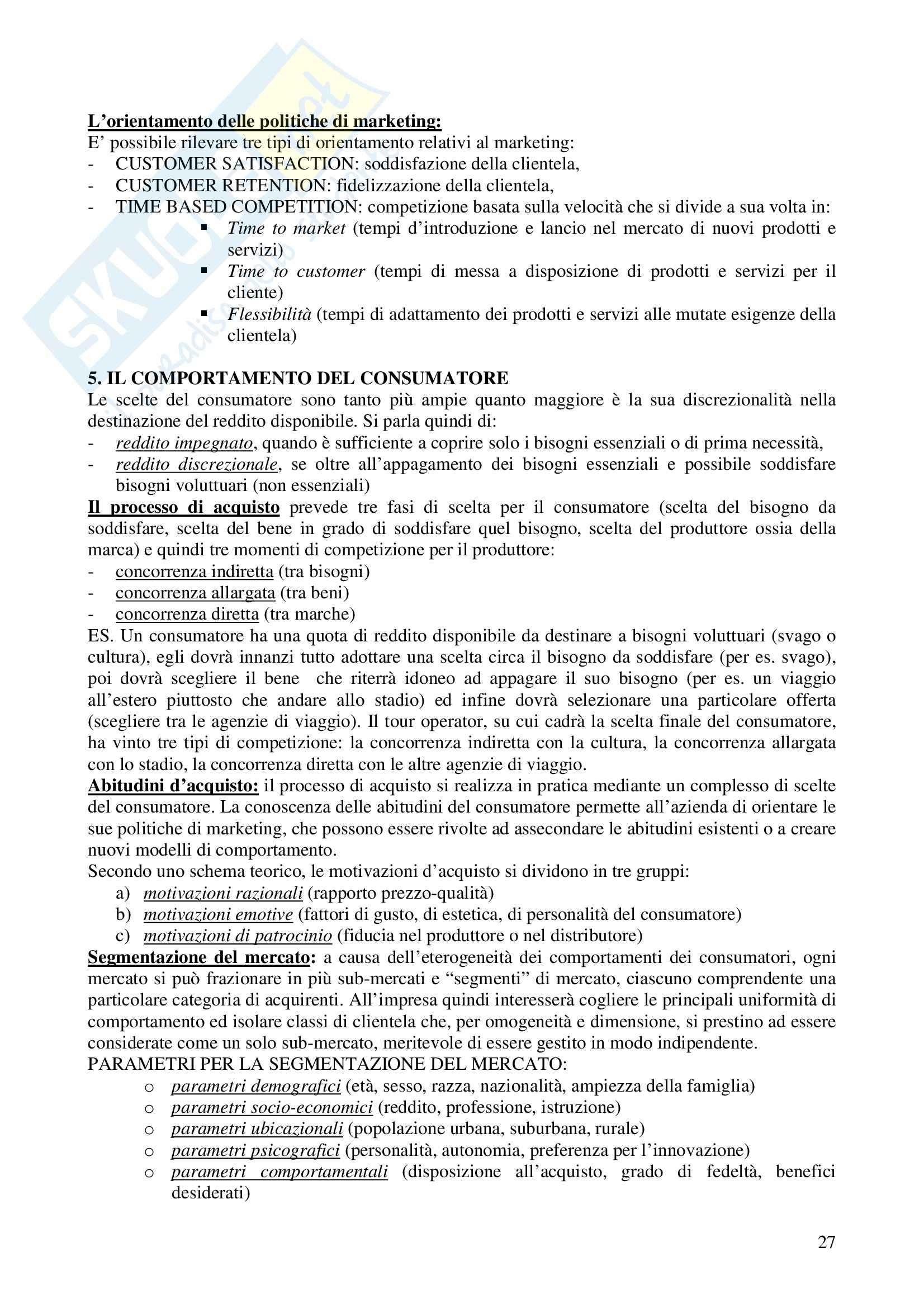Riassunto esame Economia e gestione delle imprese, prof. Calza, libro consigliato Fondamenti di economia e gestione delle imprese, Sciarelli Pag. 26