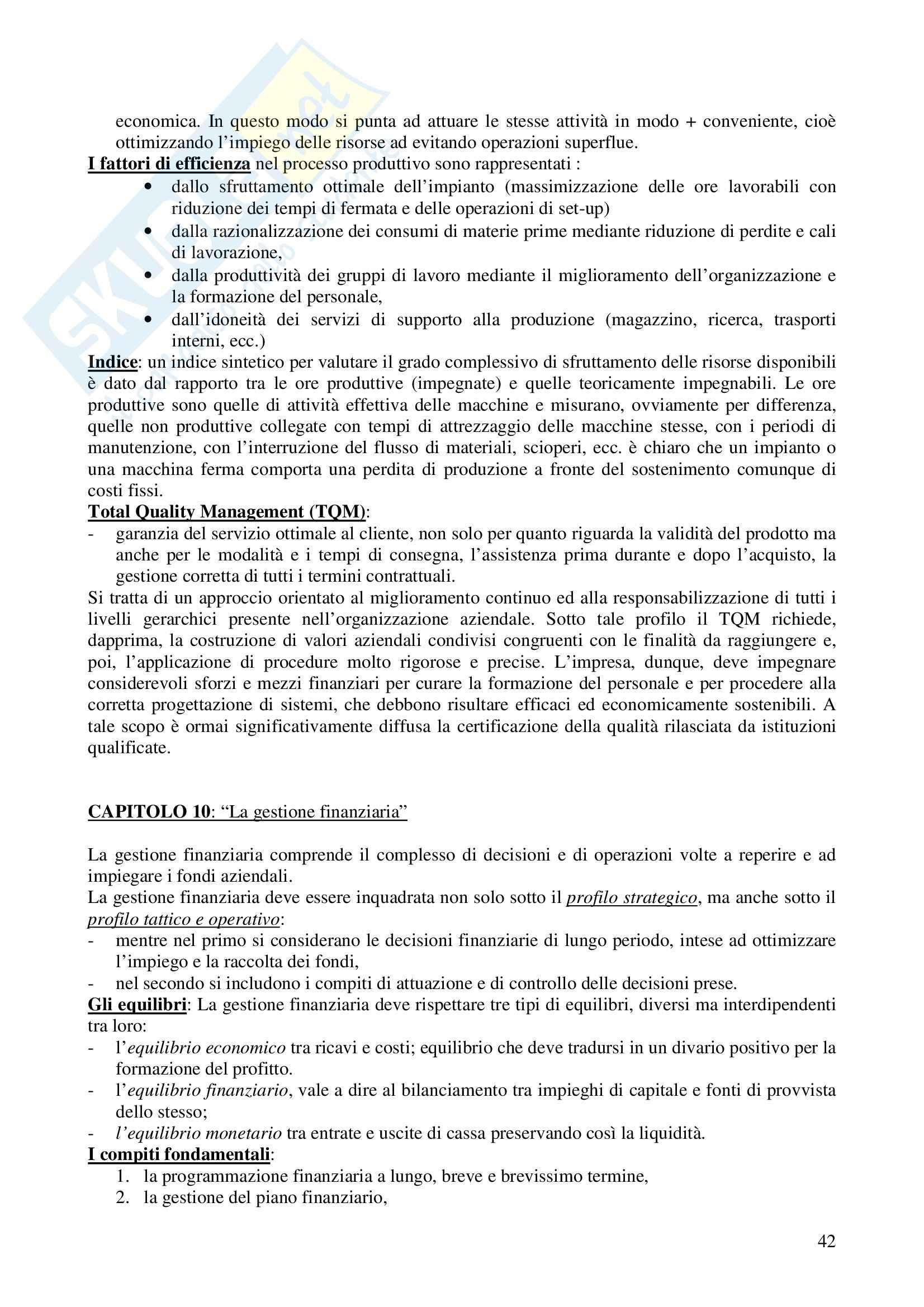 Riassunto esame Economia e gestione delle imprese, prof. Calza, libro consigliato Fondamenti di economia e gestione delle imprese, Sciarelli Pag. 41